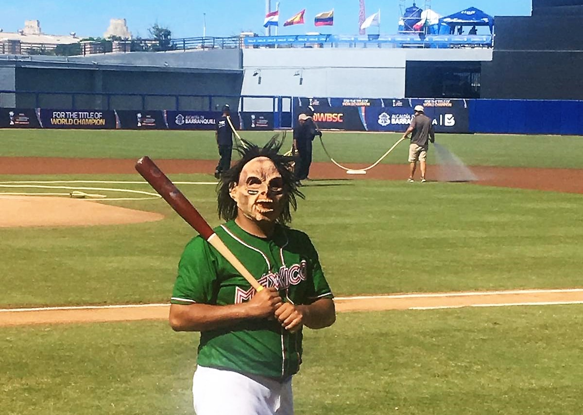 Mexican players love the Country's traditions: during pre game wearing a Lucha Libre mask