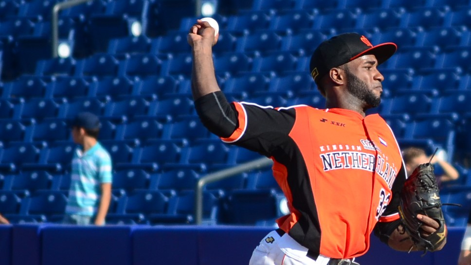 Dutch starter Wendell Floranus was followed by five relievers