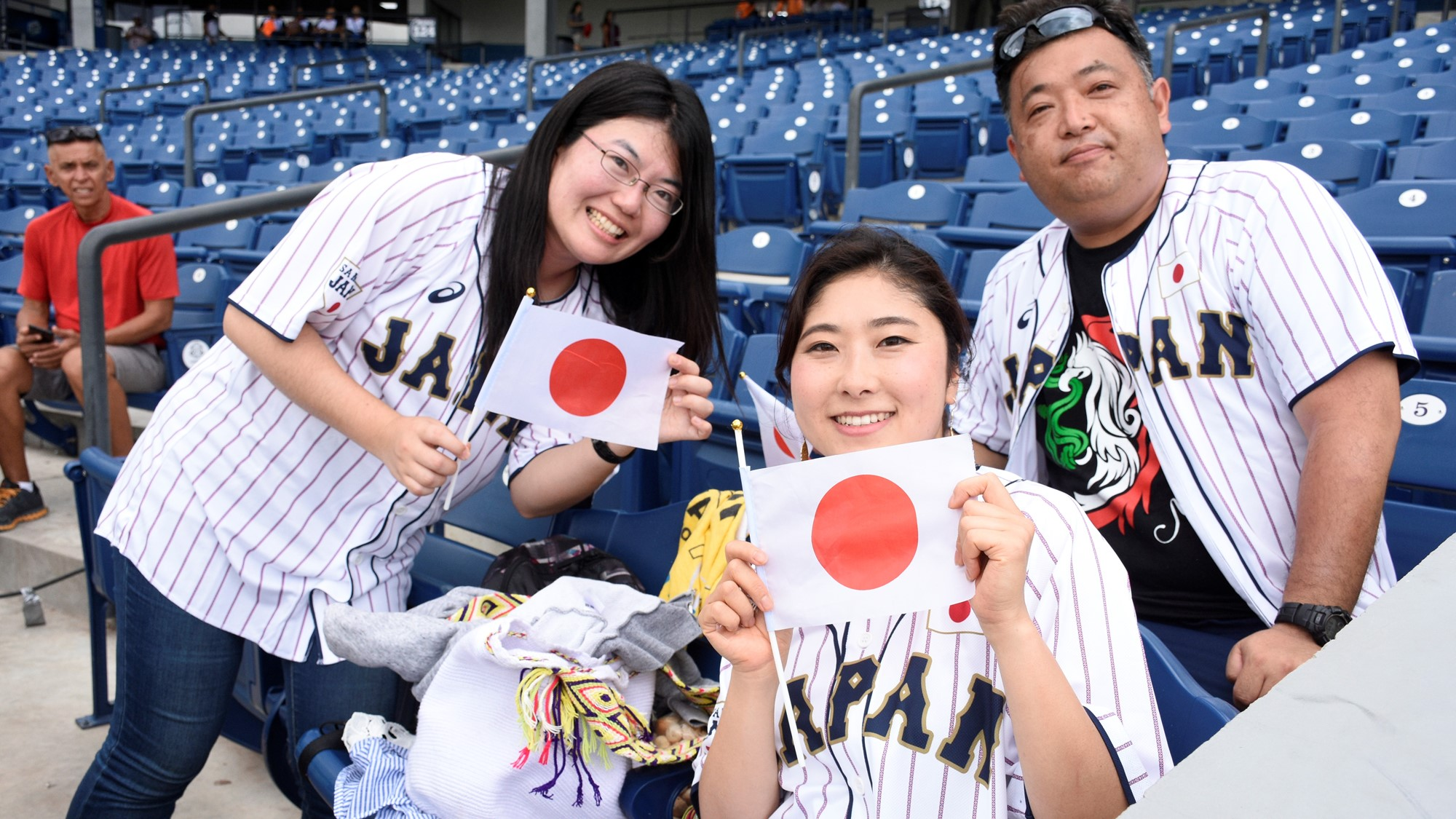 A family of Japanese fans