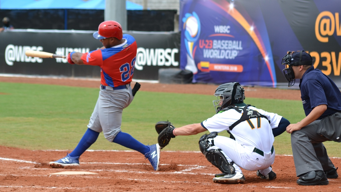 Martin Taveras homered in the second inning for Puerto Rico