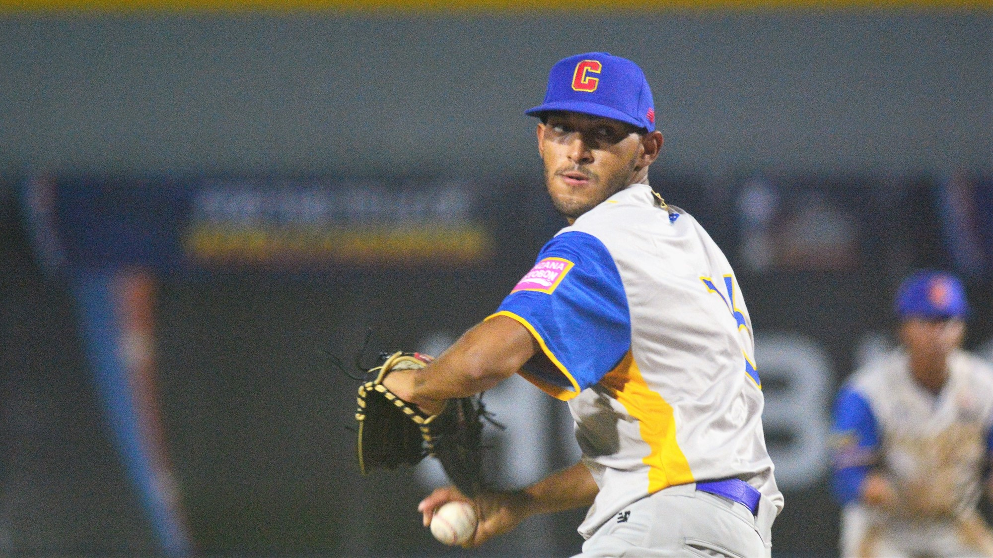 Juan Escorcia started for Colombia, the first of six pitchers who took the mound