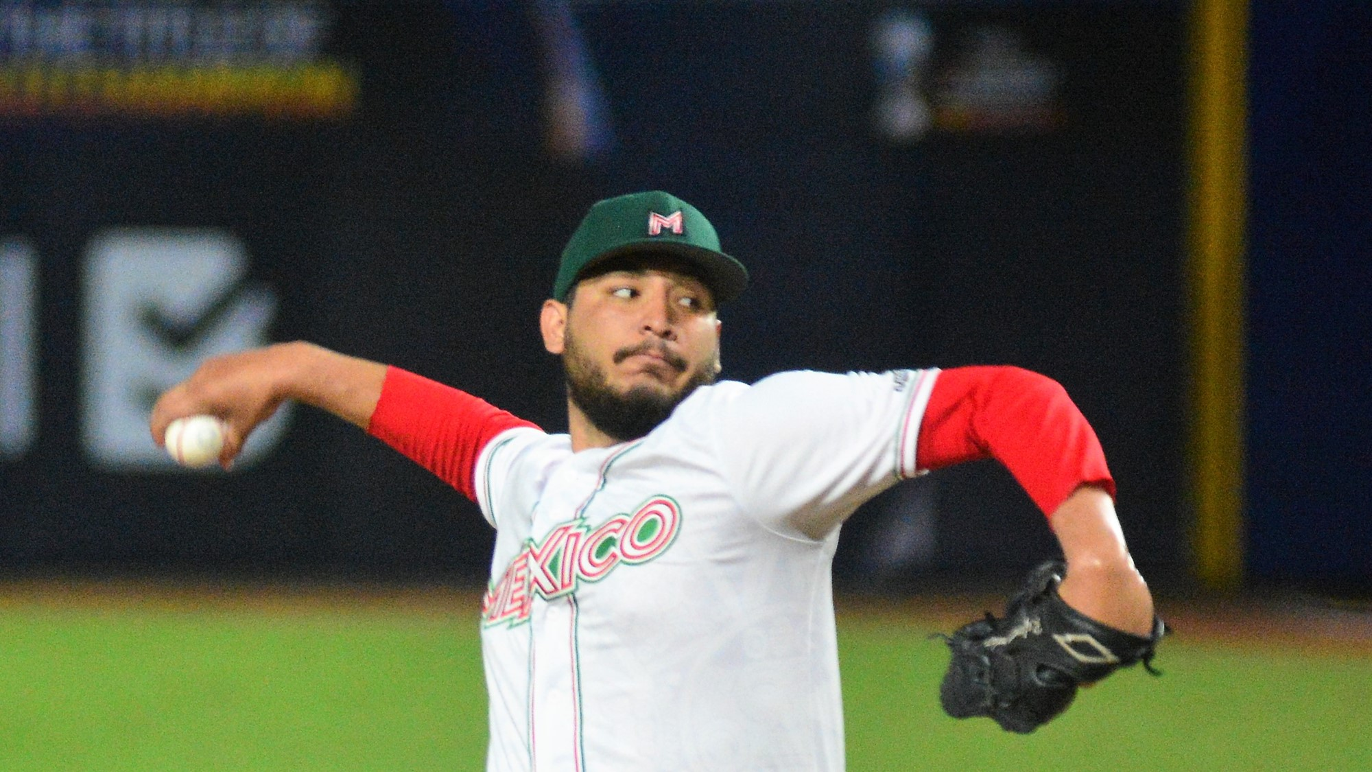 Rafaeil Ordaz escaped a bases loaded jam in the sixth. He was the fourth pitcher used by Mexico in the inning