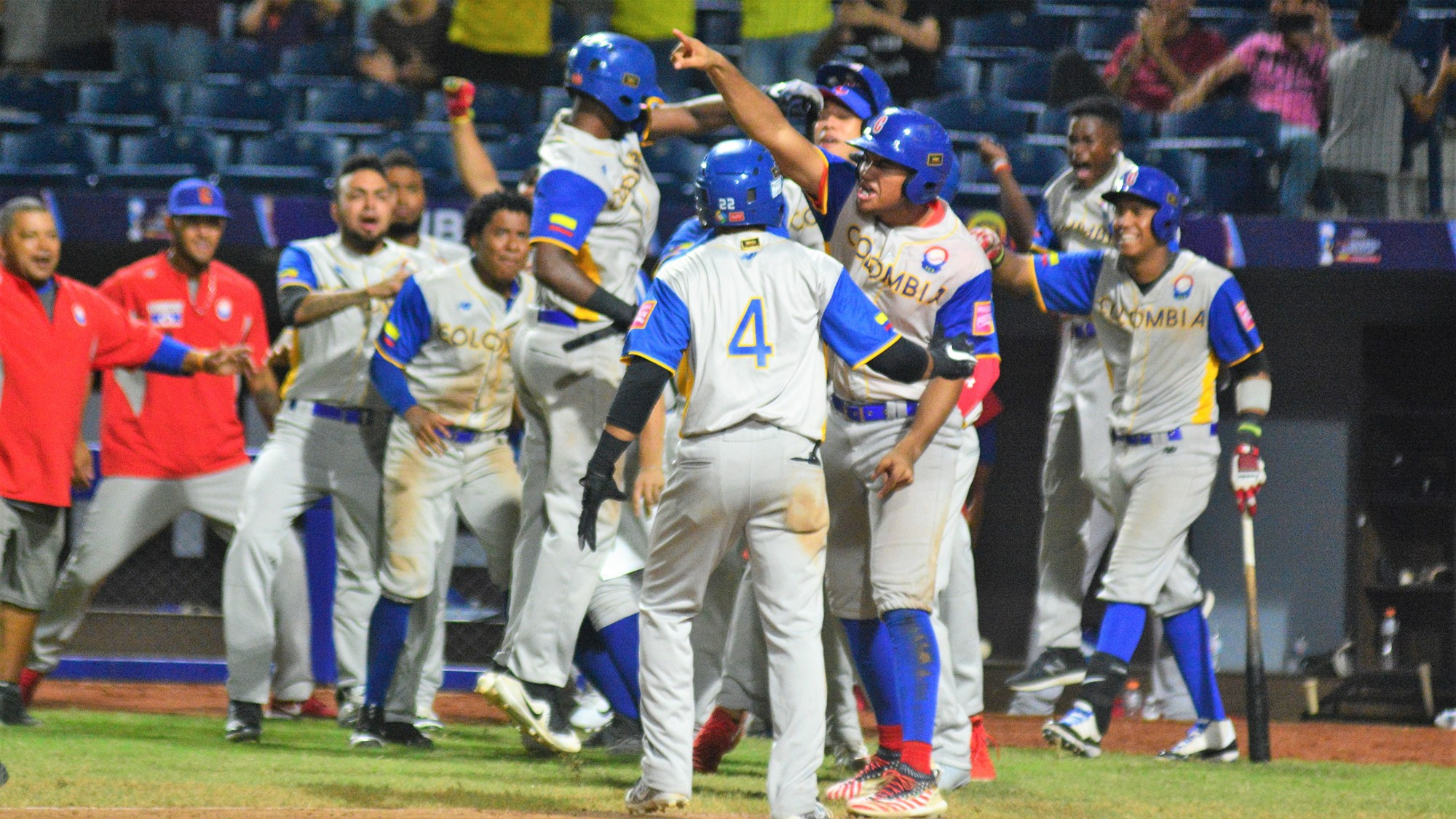 Colombia reversed the lead in the top of the seventh