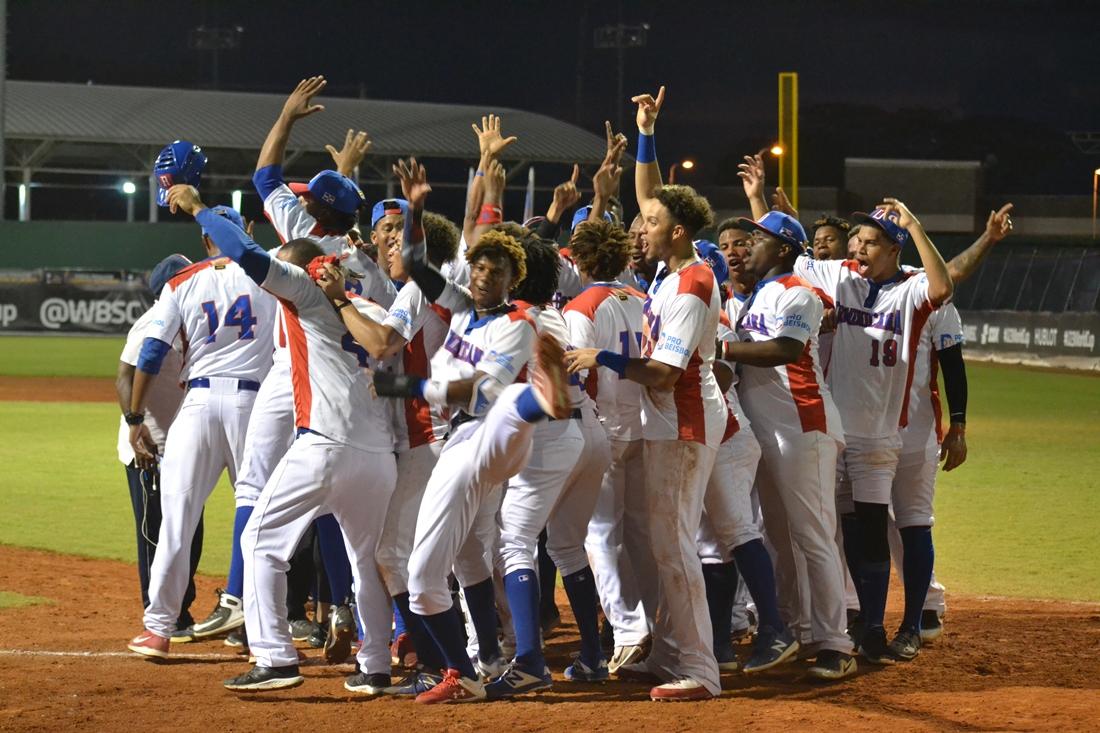 Dominican Republic celebrates its victory over Czech Republic