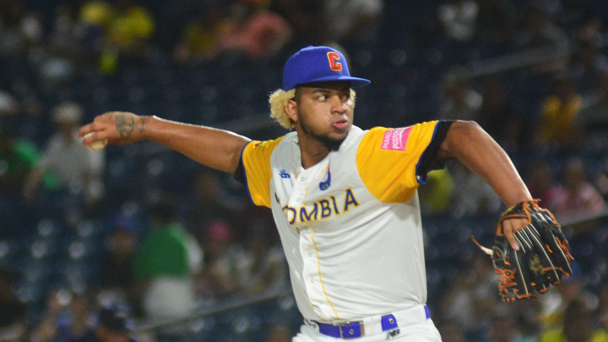 Colombia relieved starter Luis Moreno after two innings; he hadn't allowed a hit