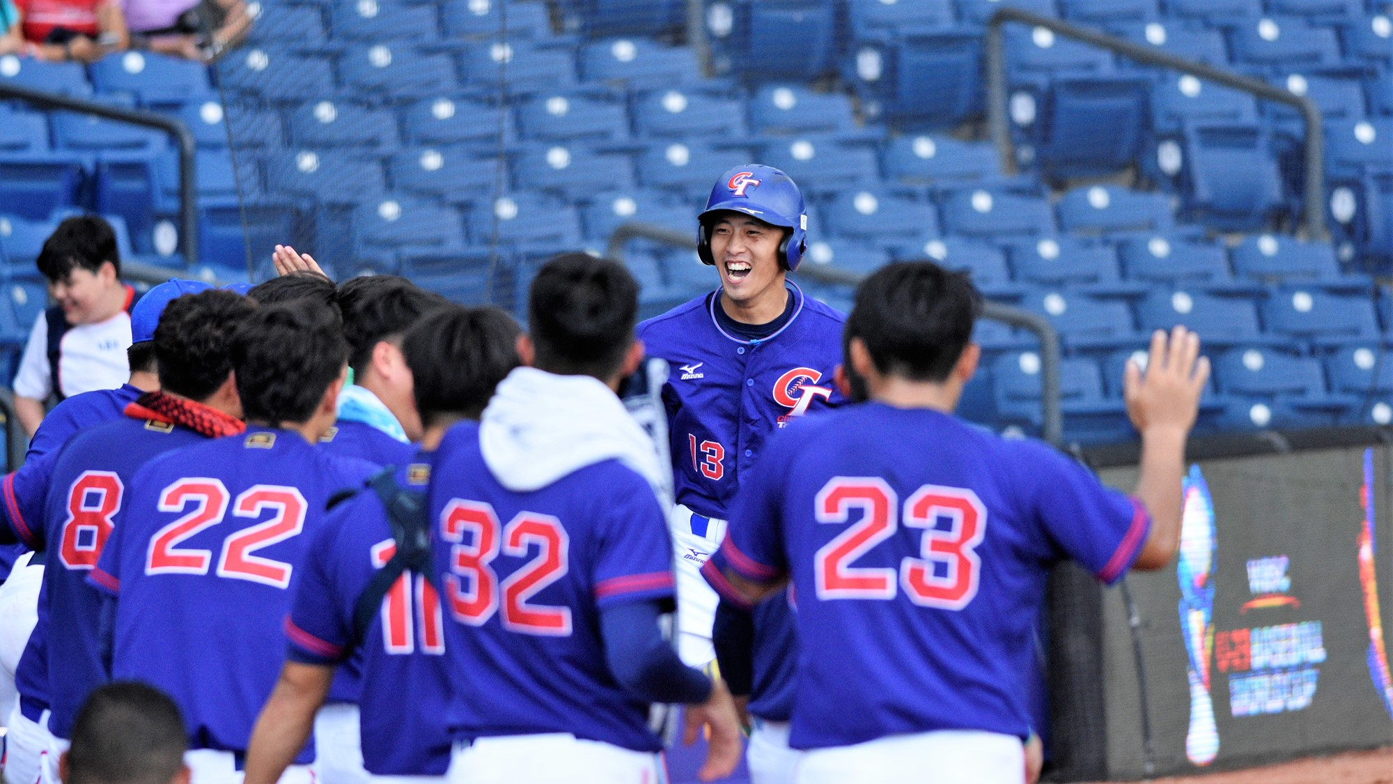 Tai Yun Chen tied the game in the top of the seventh with a solo home run