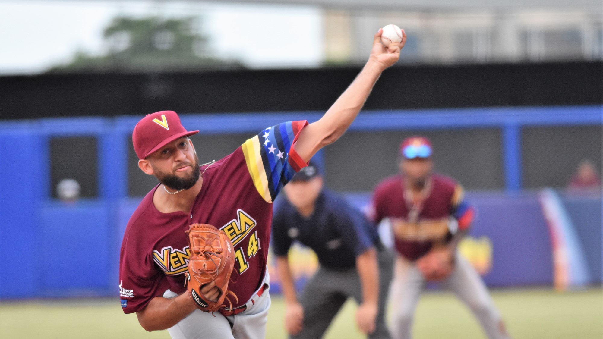 Venezuela reliever Ivan Andueza pitched six solid innings before giving up a tie breaking home run