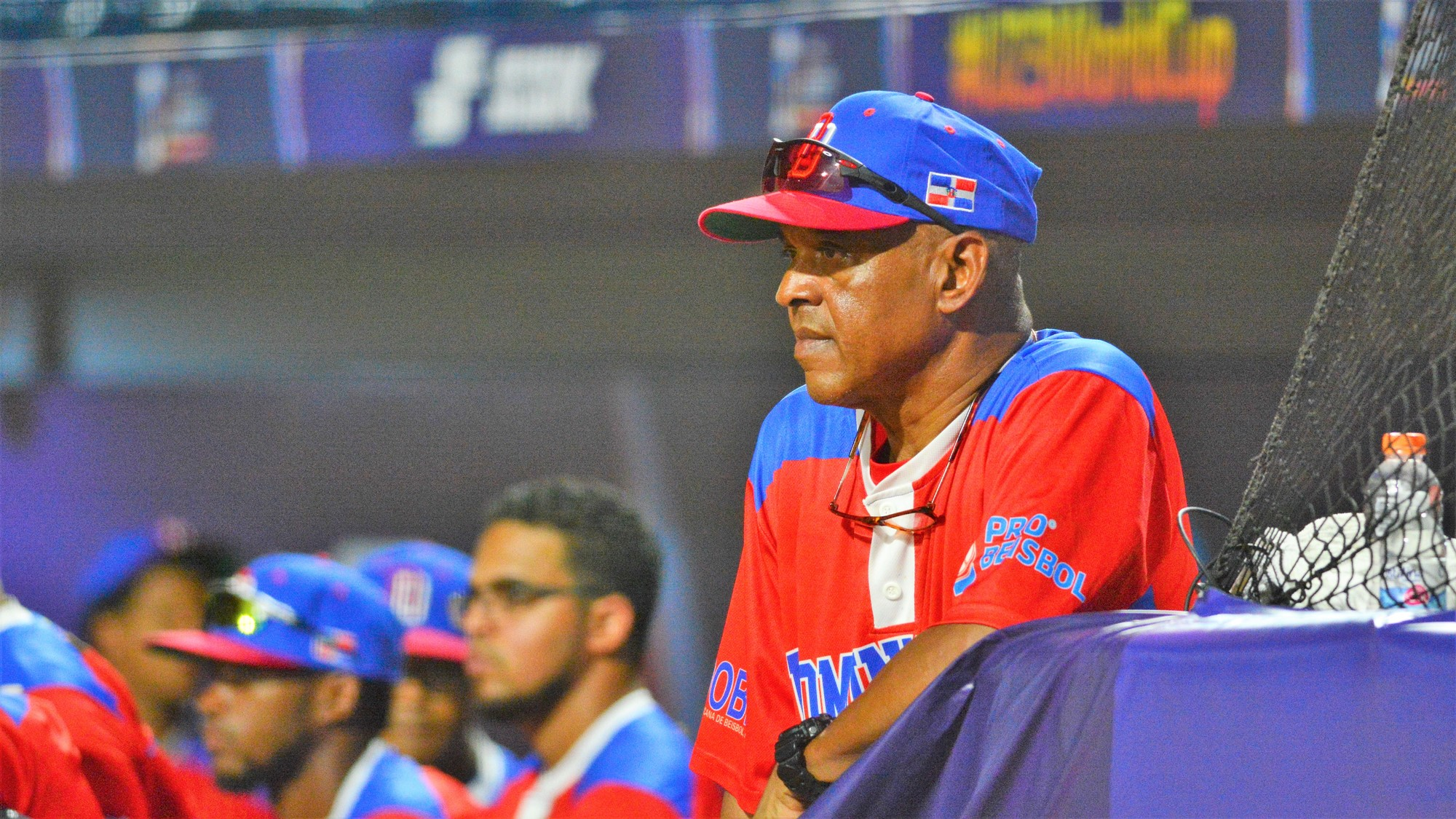 Dominican Republic manager Denio Gonzalez