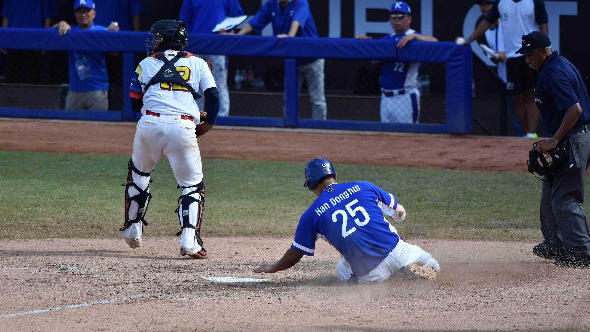 Korea tied it in the top of the seventh against Venezuela's bull pen