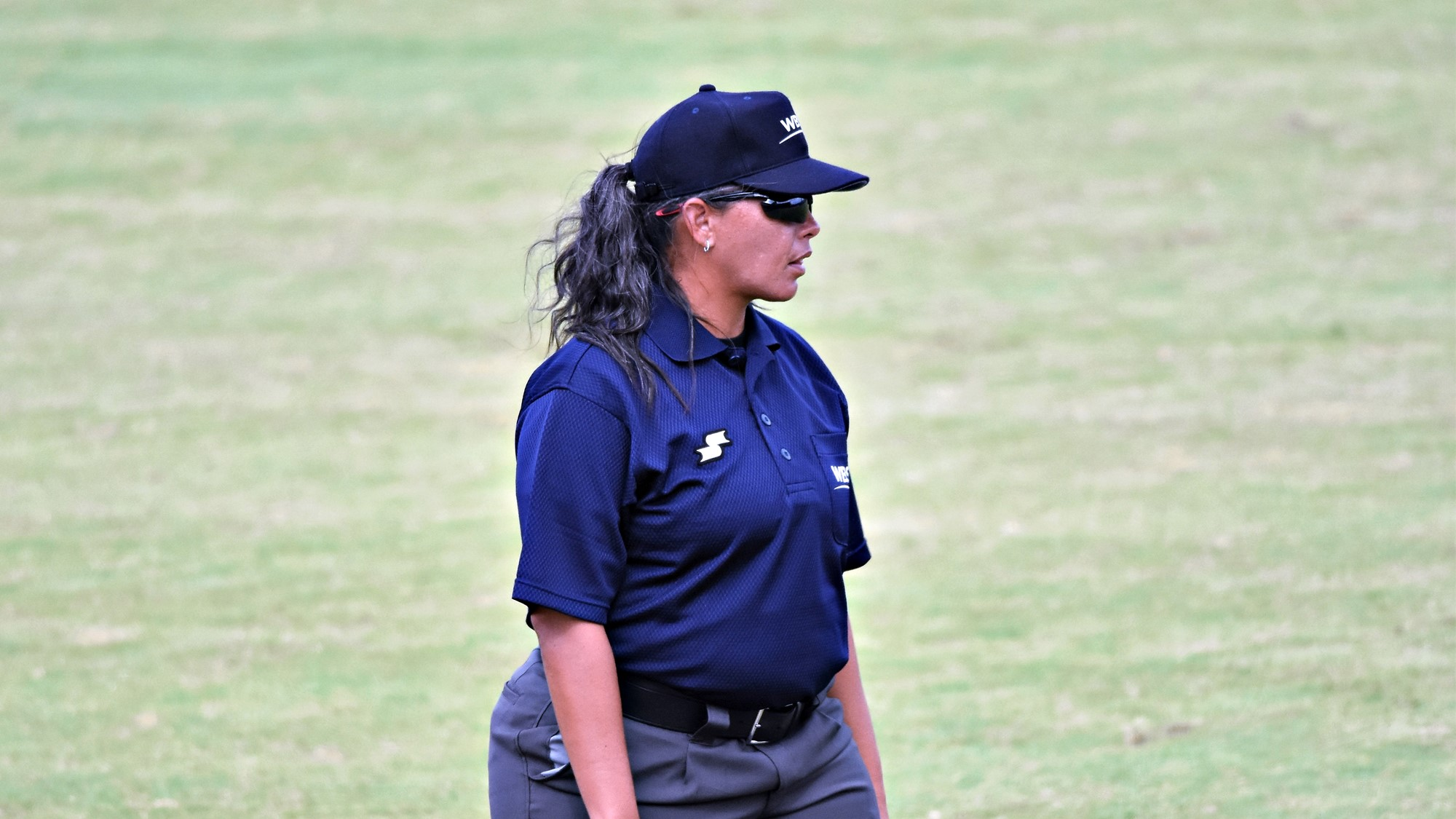 Saiya Silva in the umpiring crew for the bronze medal game
