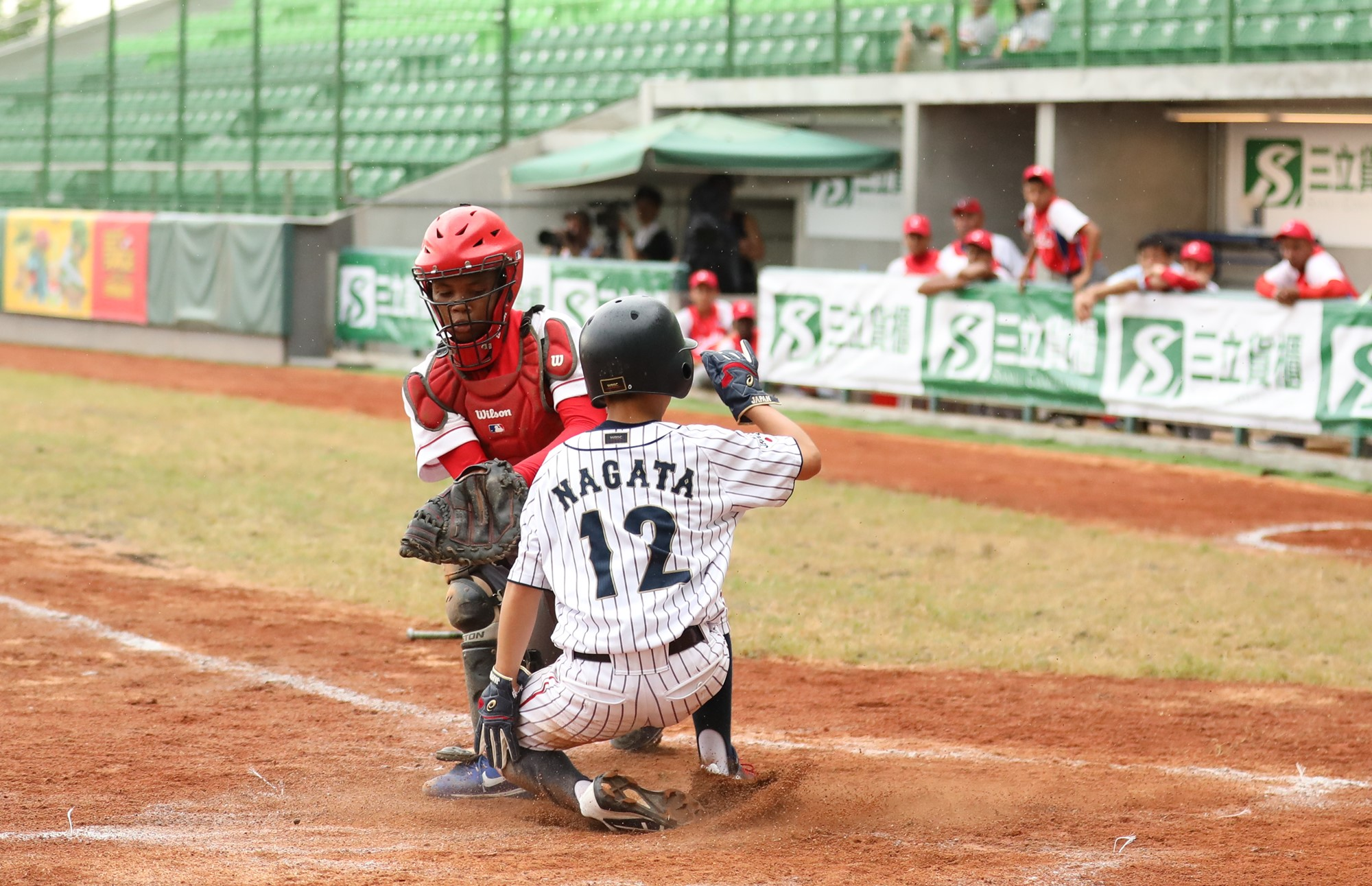 Japan scored the go ahead run in the bottom of the first