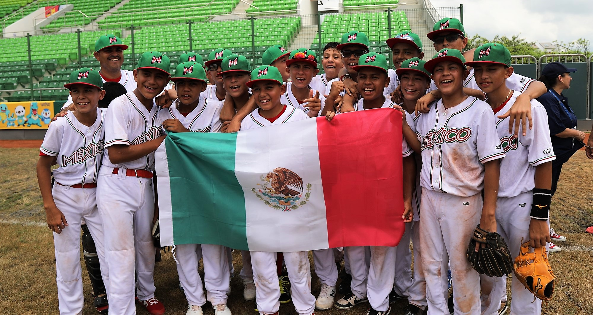 Mexico's players showing National pride