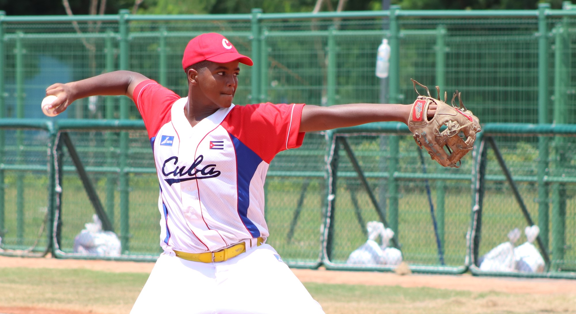 Cuba's pitcher took control and didn't allow another run