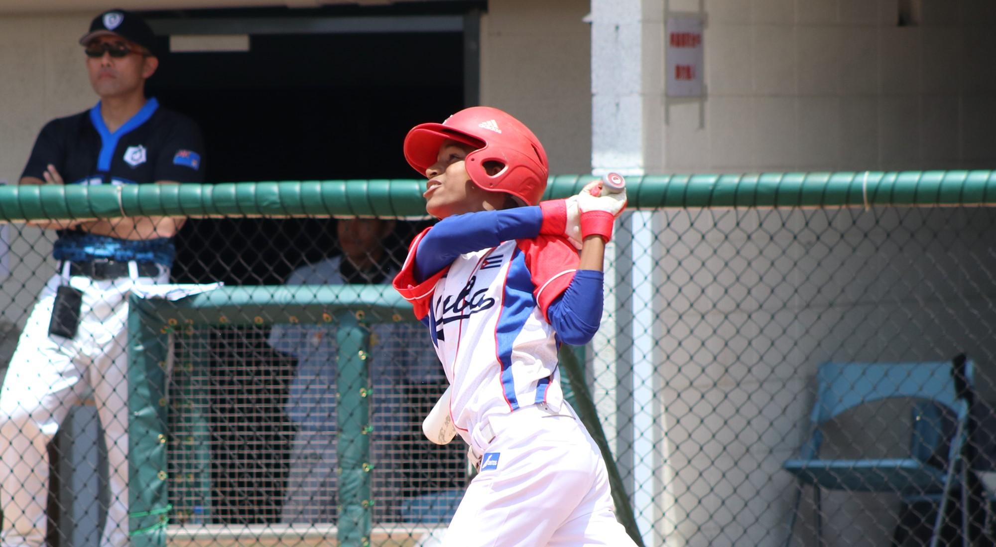 Cuba scored 27 runs on 23 hits, including a home run