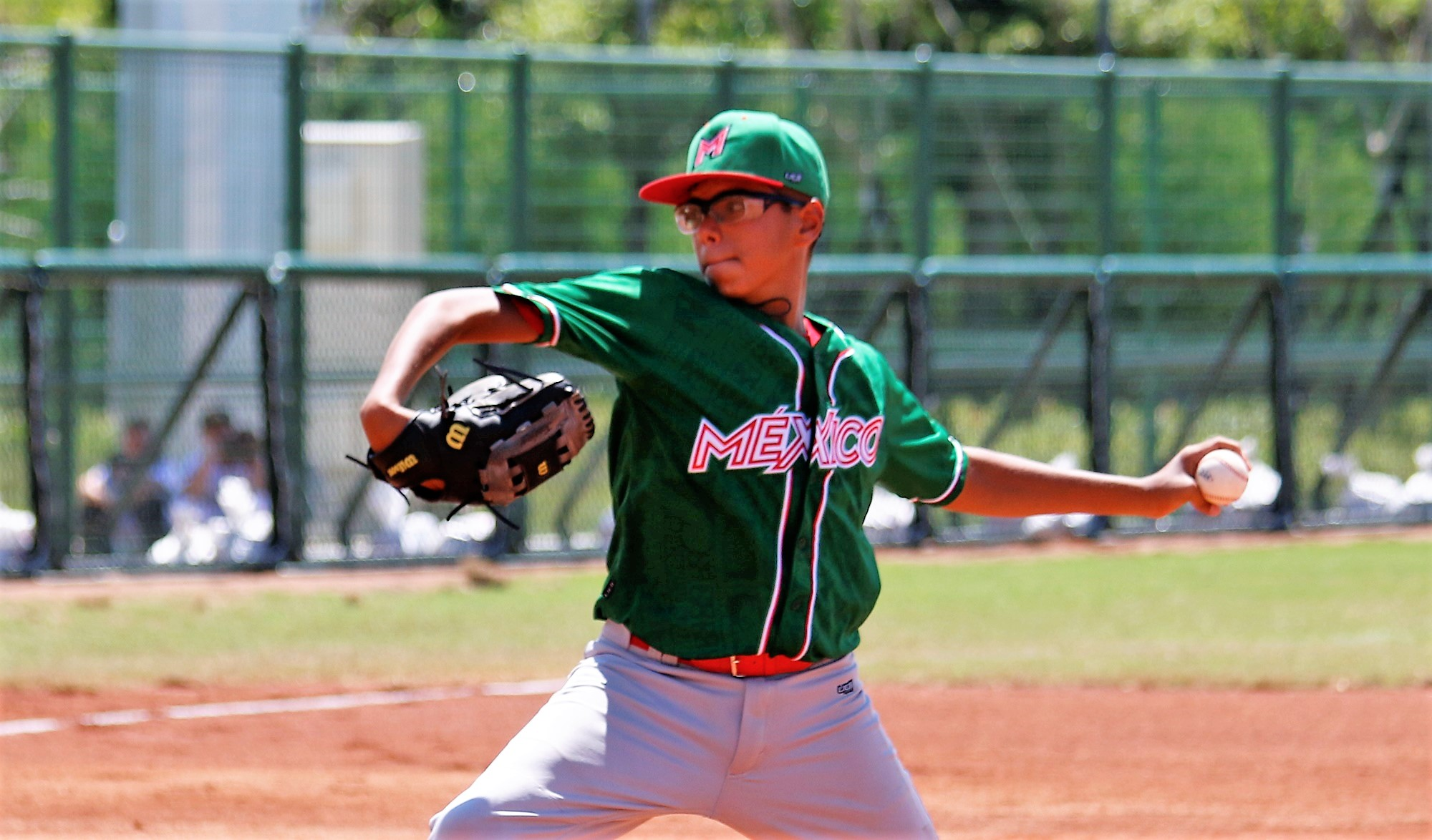 Mexico's left hander Javier Garcia struck out 5 in 3 innings