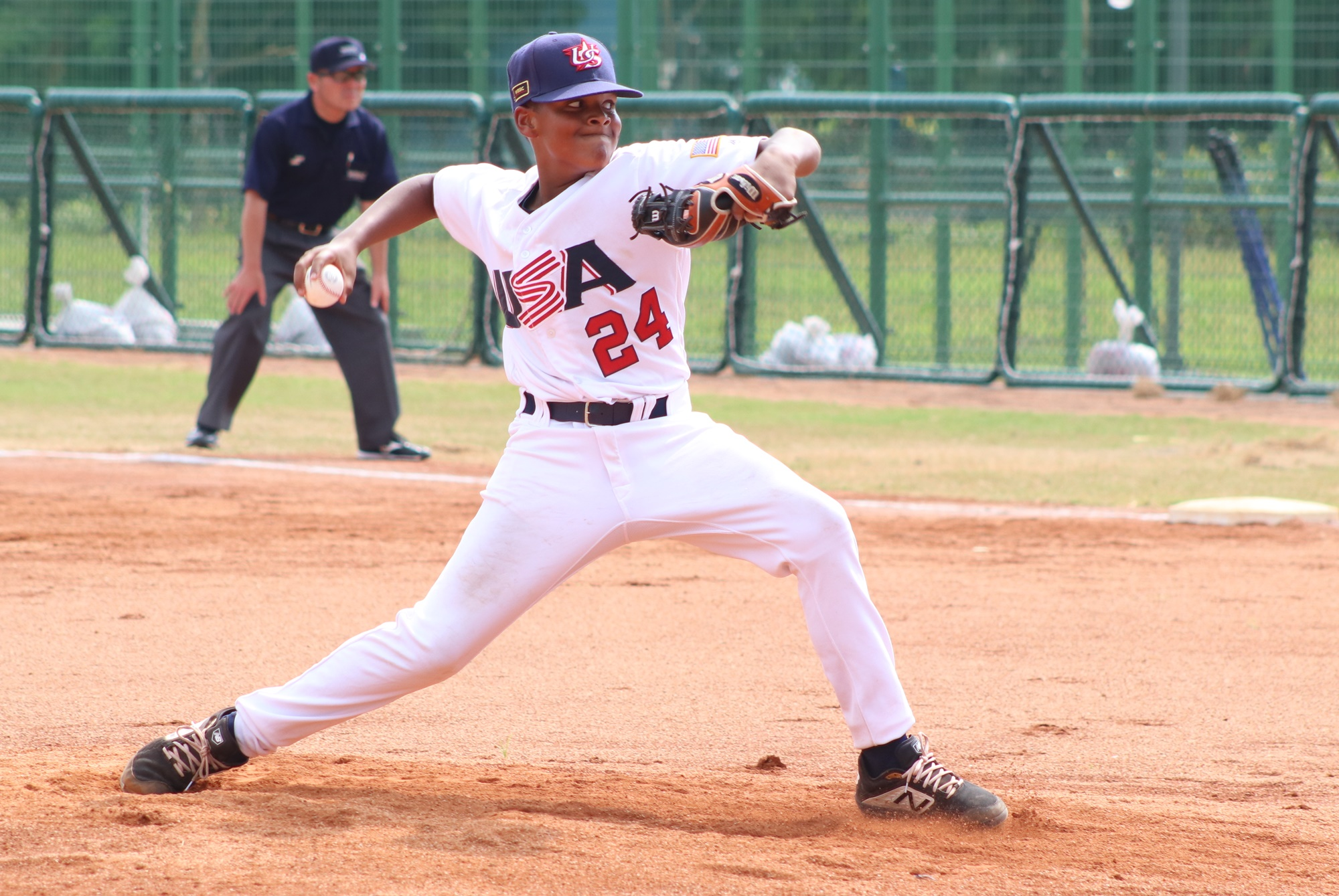 Jayden Stroman, the brother of MLB pitcher Marcus, started for the USA against Italy