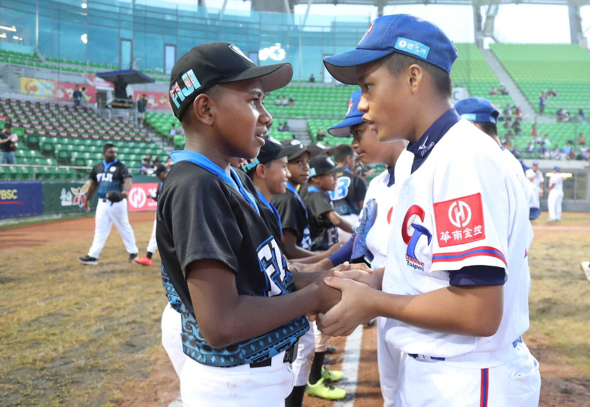 Despite the gap in the final score, there was friendship between Chinese Taipei and Fiji