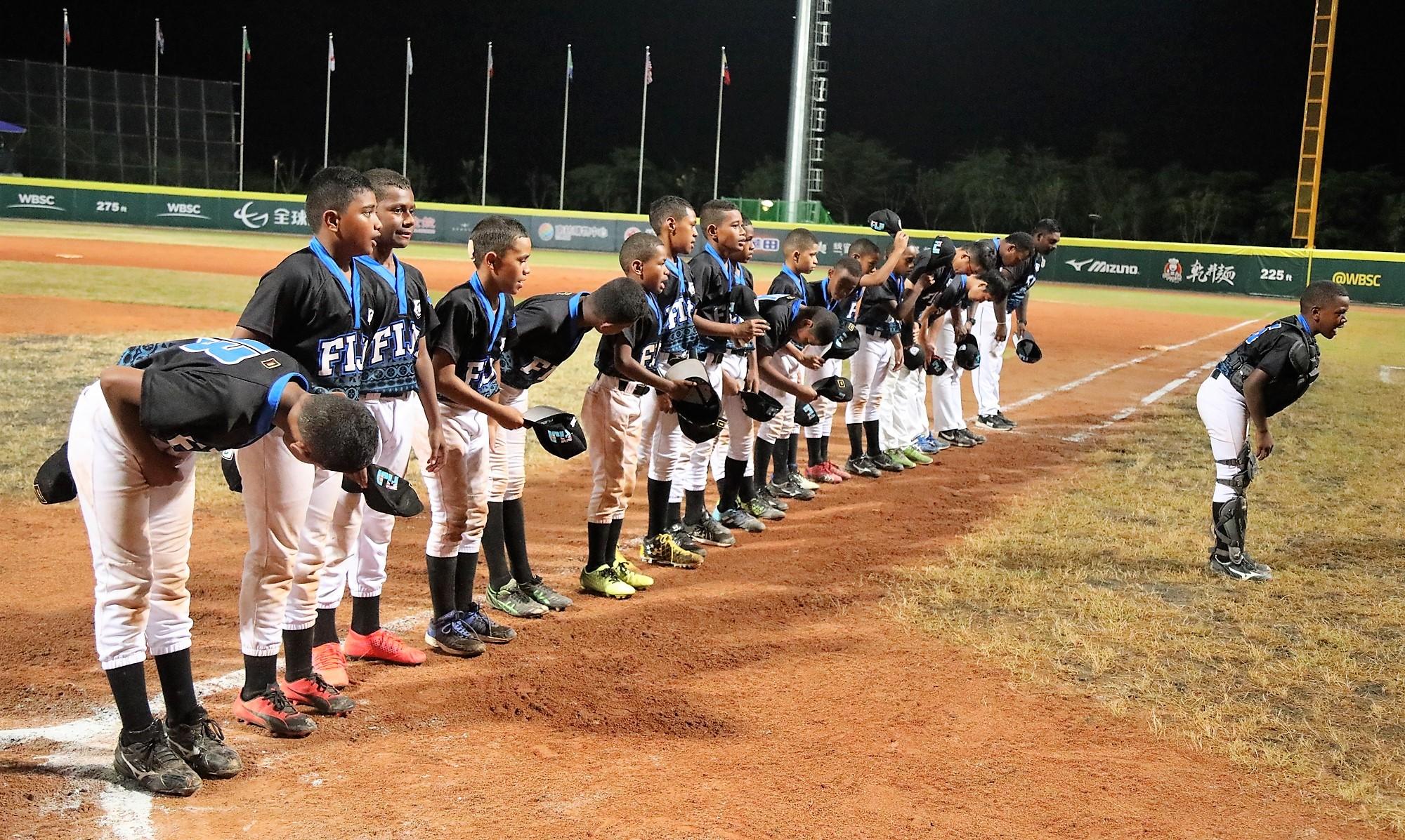 Fiji honour the Tainan fans
