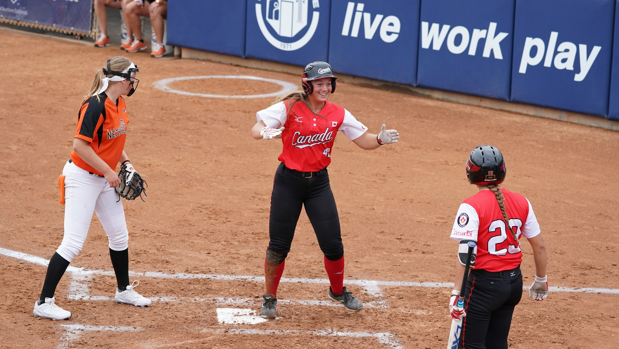 Canada scored the go ahead run in the second and never looked back