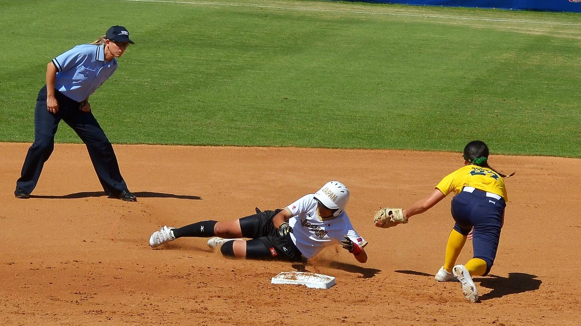 Chiharu Shiharashi got the first in and went on to score three runs