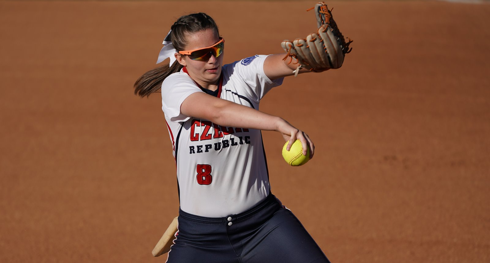 The home run was the first run allowed by Czech pitcher Adela Linkova