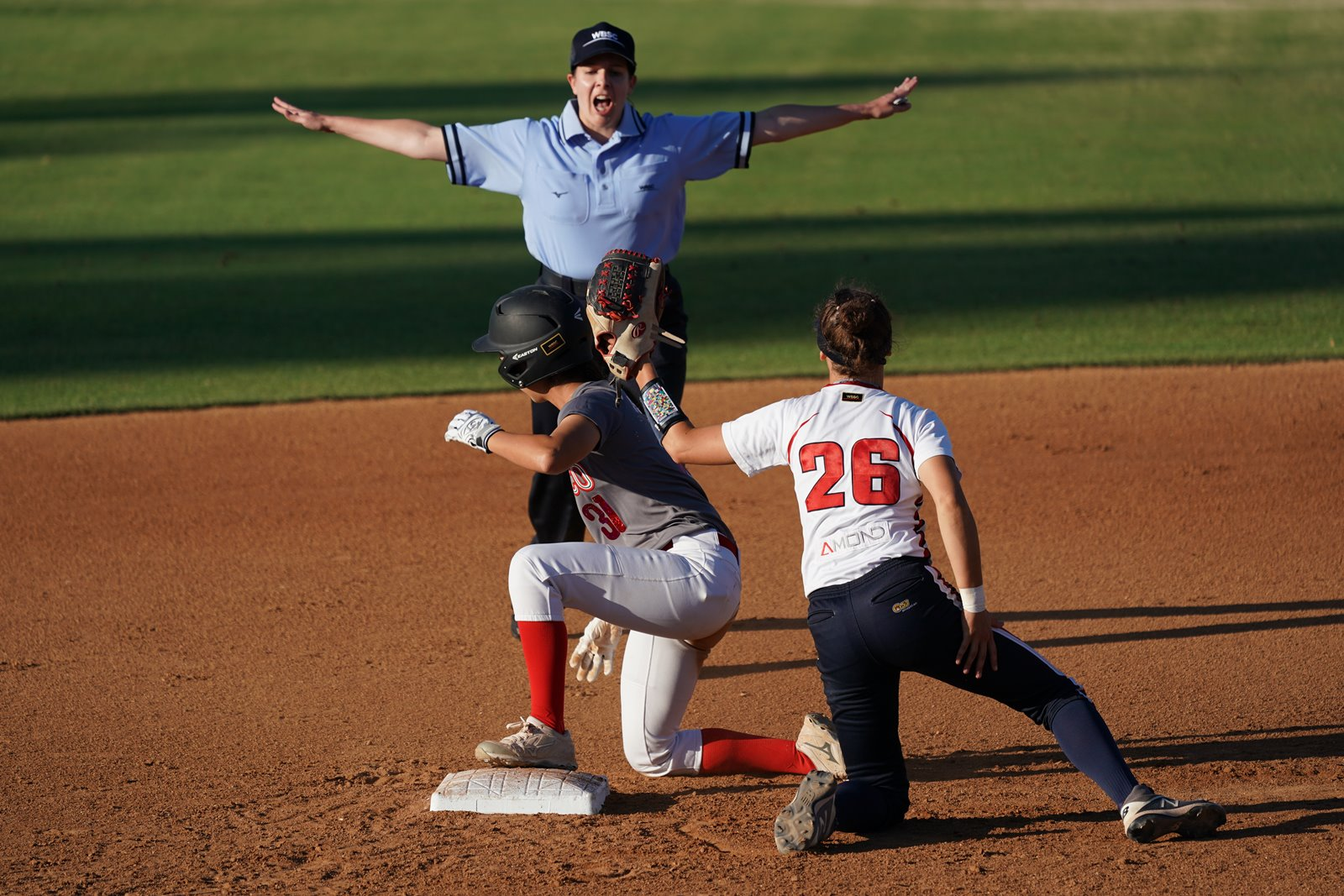 Czech Republic shortstop Barbora Saviola played superb defense