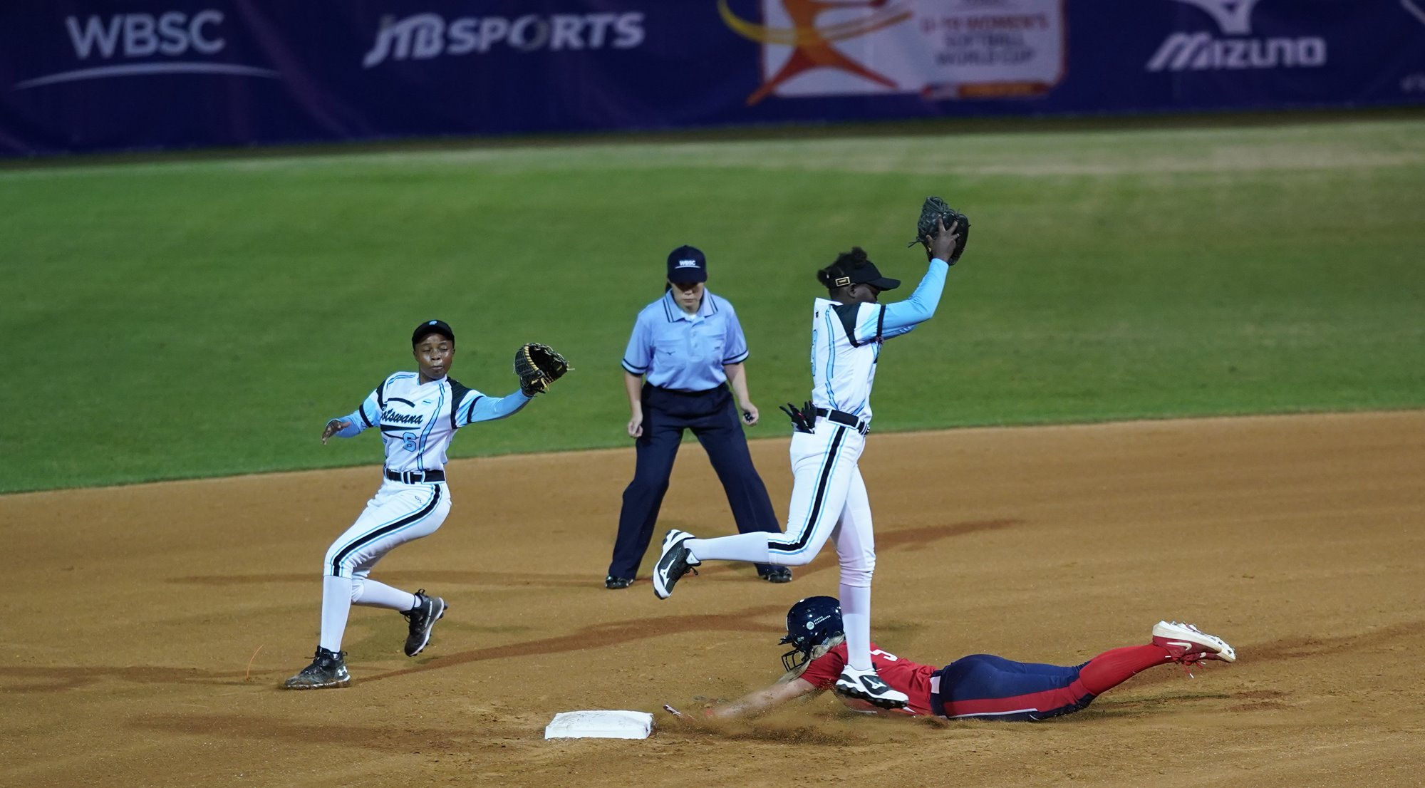 The USA needed only three innings to outscore Botswana