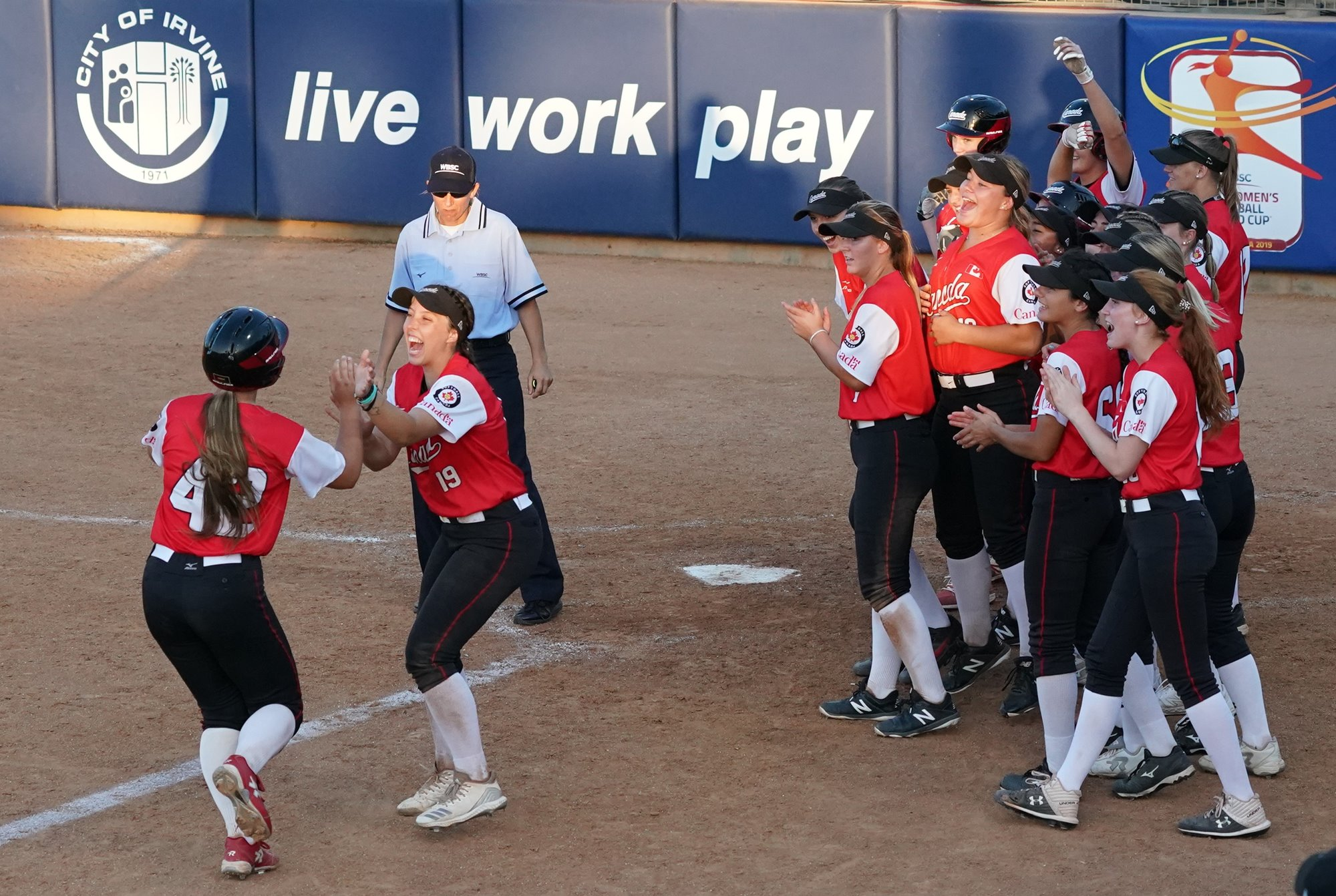 A base hit by Lauren Benson ended the game in the sixth