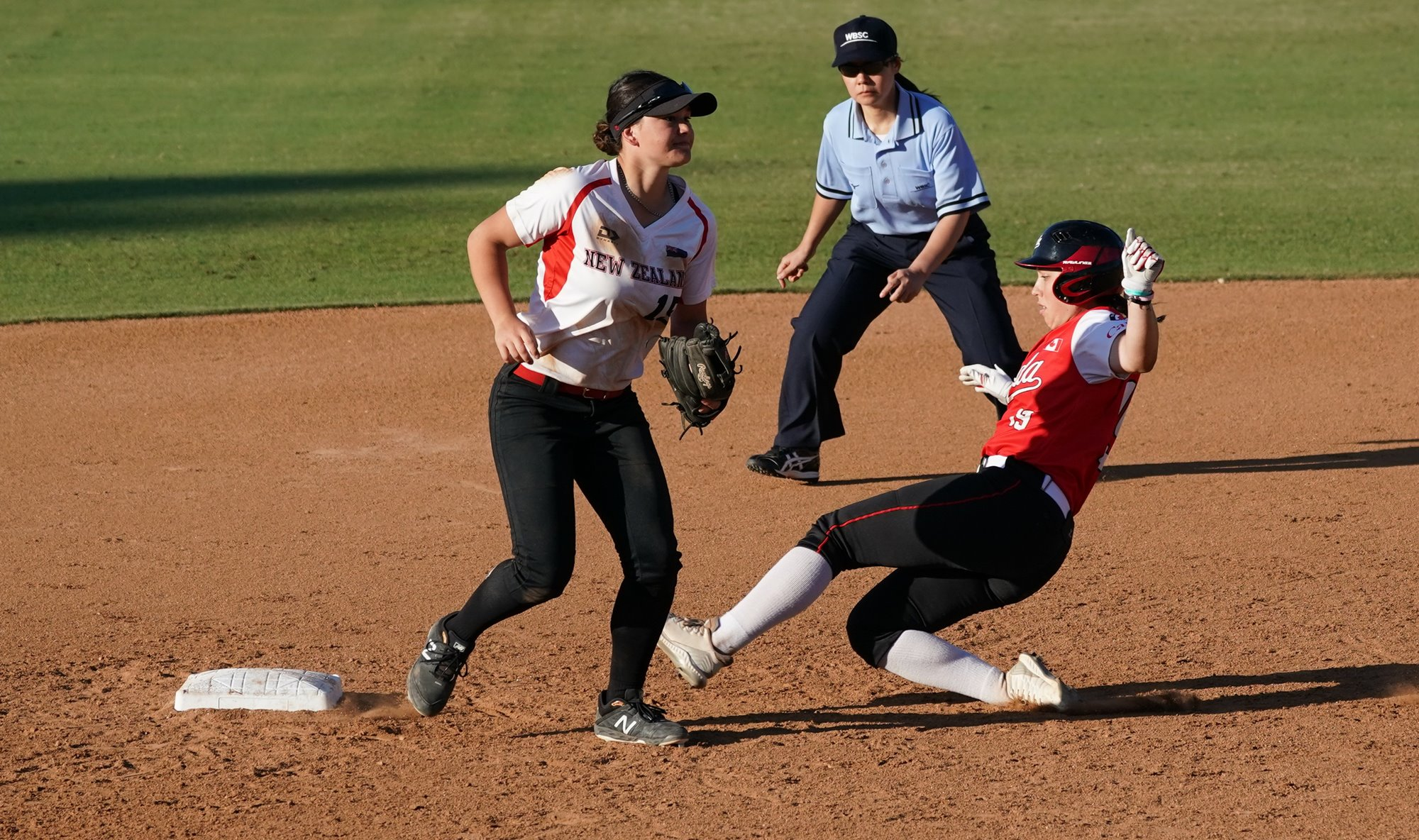 Shortstop Caytlin Lewis proved to be New Zealand's leader