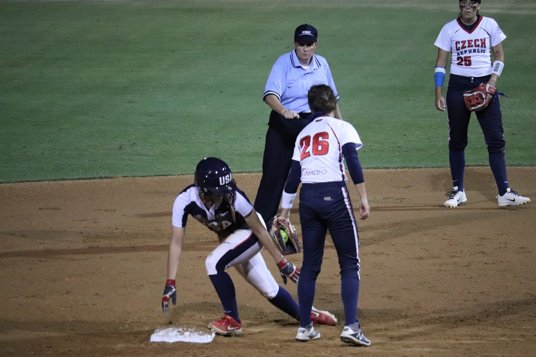 The USA went on to win 8-0 in five innings