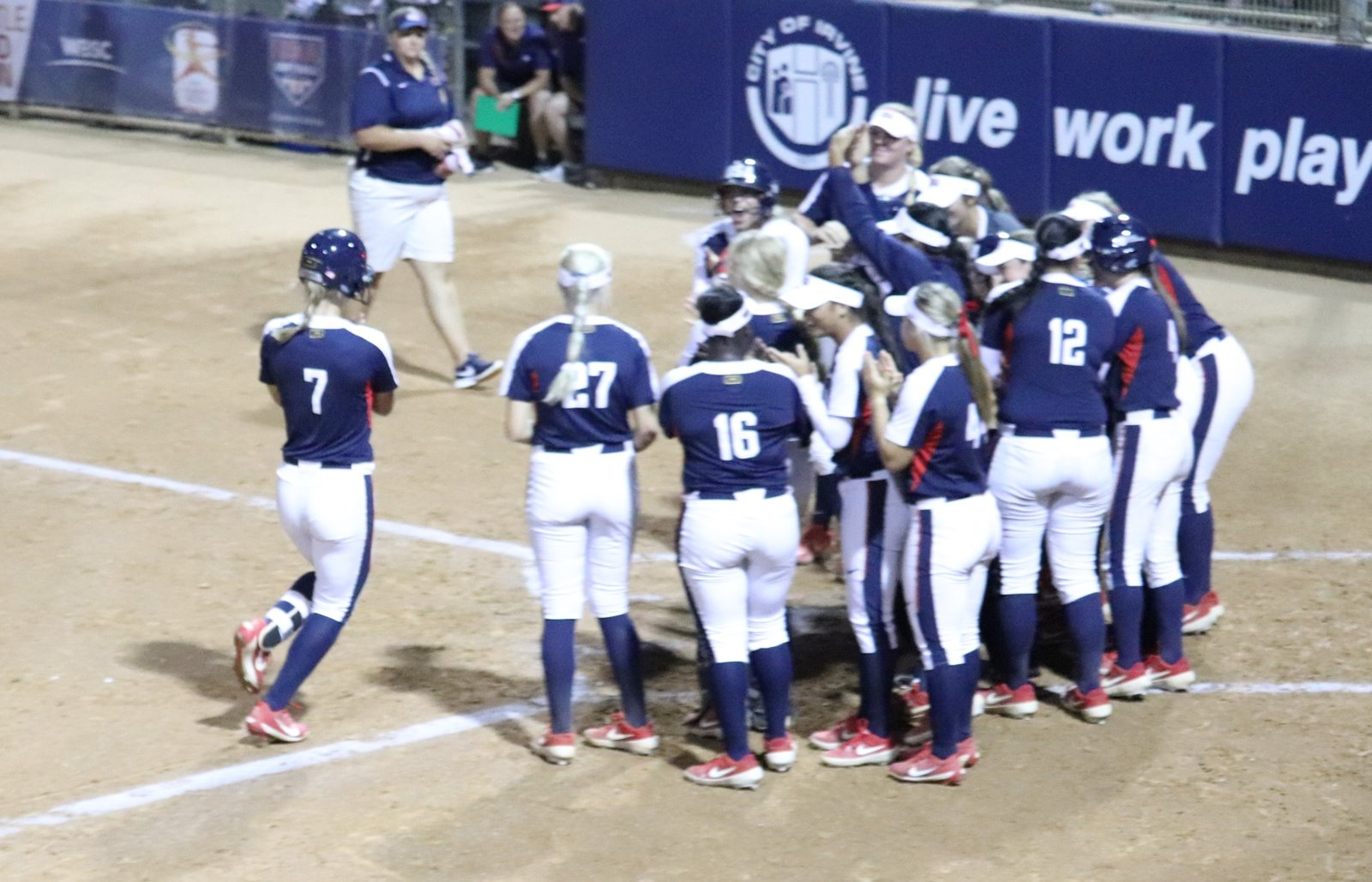 A home run by Bailey Dowling set the tone