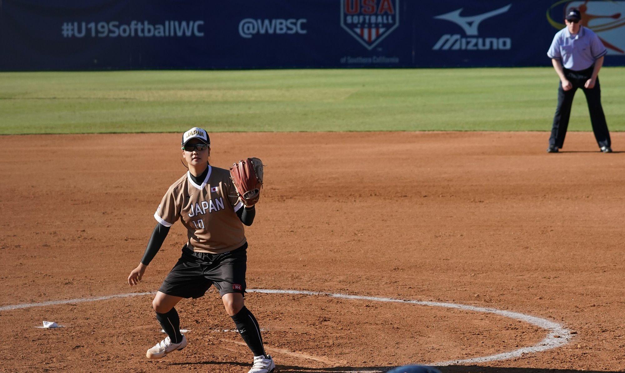 Starting pitcher Mio Sakamoto left Chinese Taipei no chance