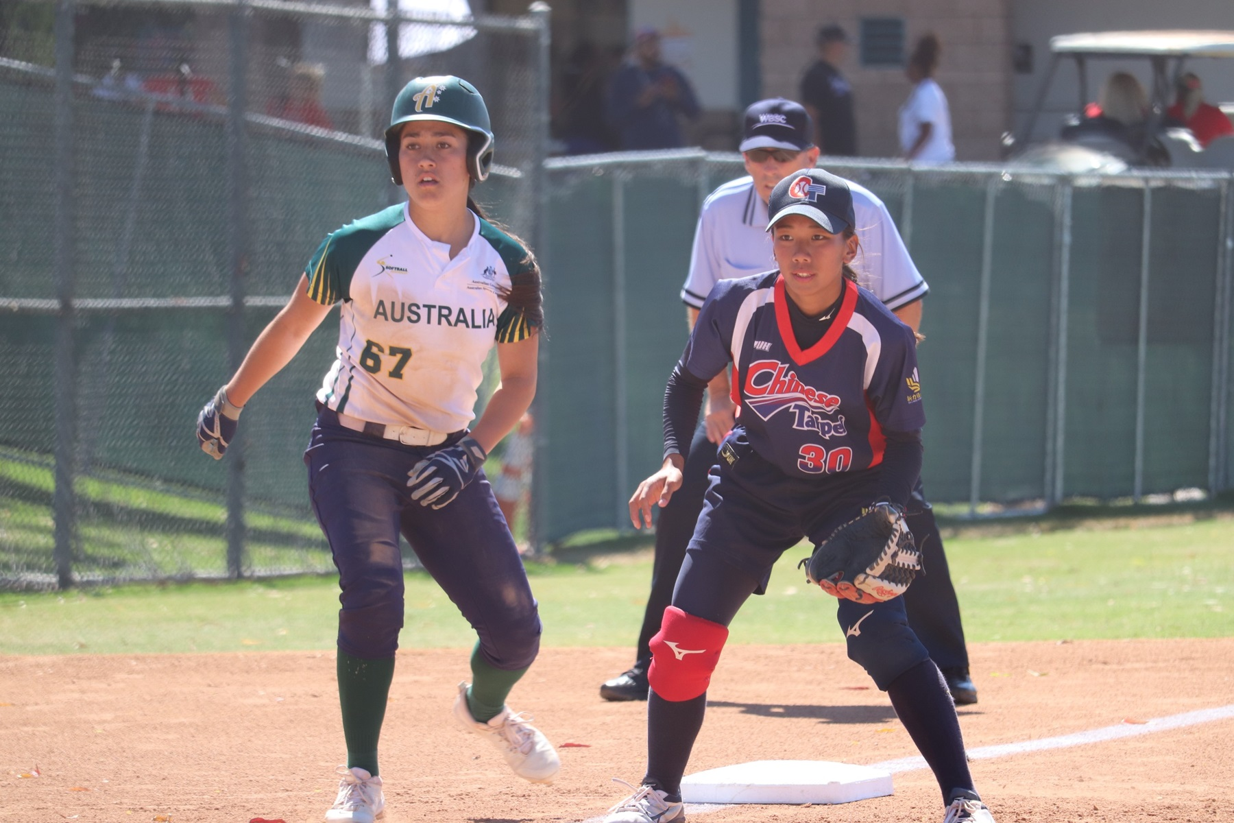 Mya Geros got two hits in the seventh