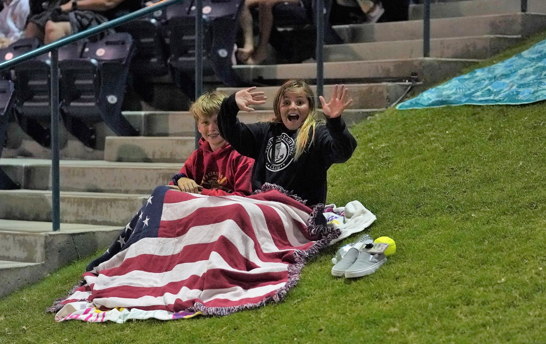 A chilly southern California night didn't stop USA fans