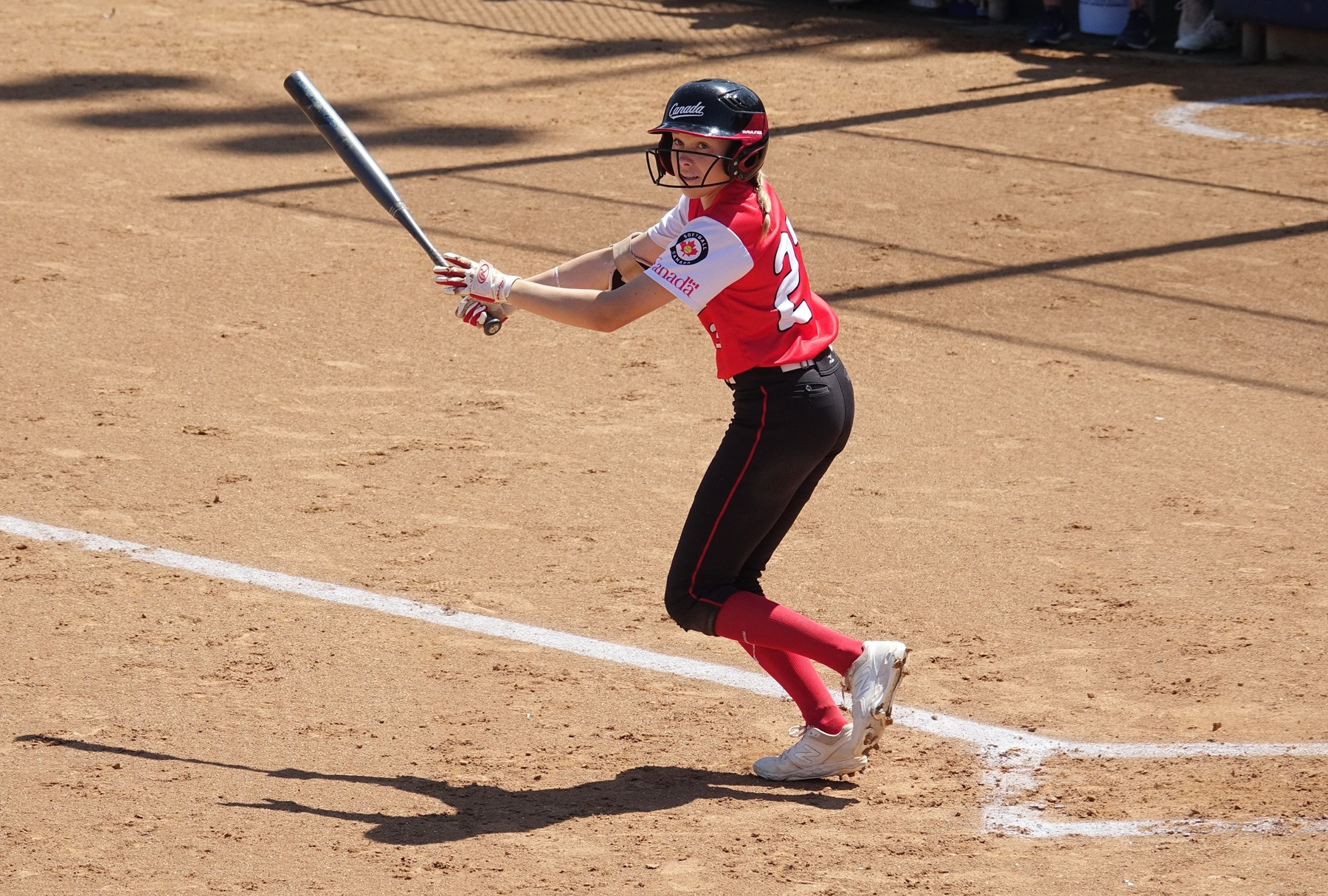 Kendra Falby lead off the bottom of the first with a hit
