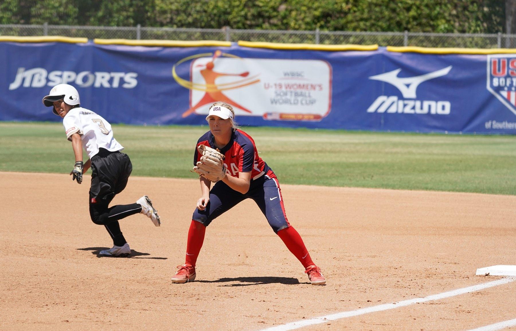 Akari Yamamoto running the bases