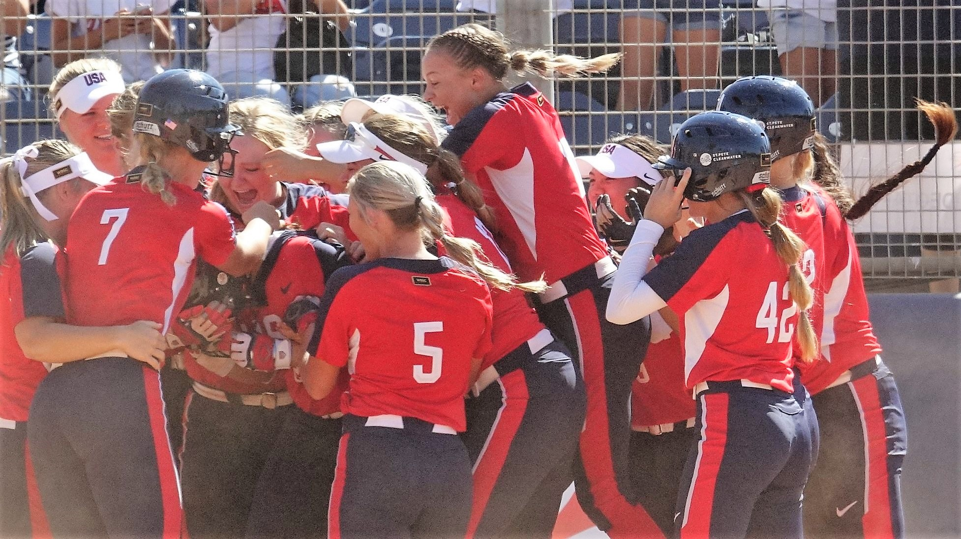 The USA tied it on a pinch-hit home run by Francesca Hammoude