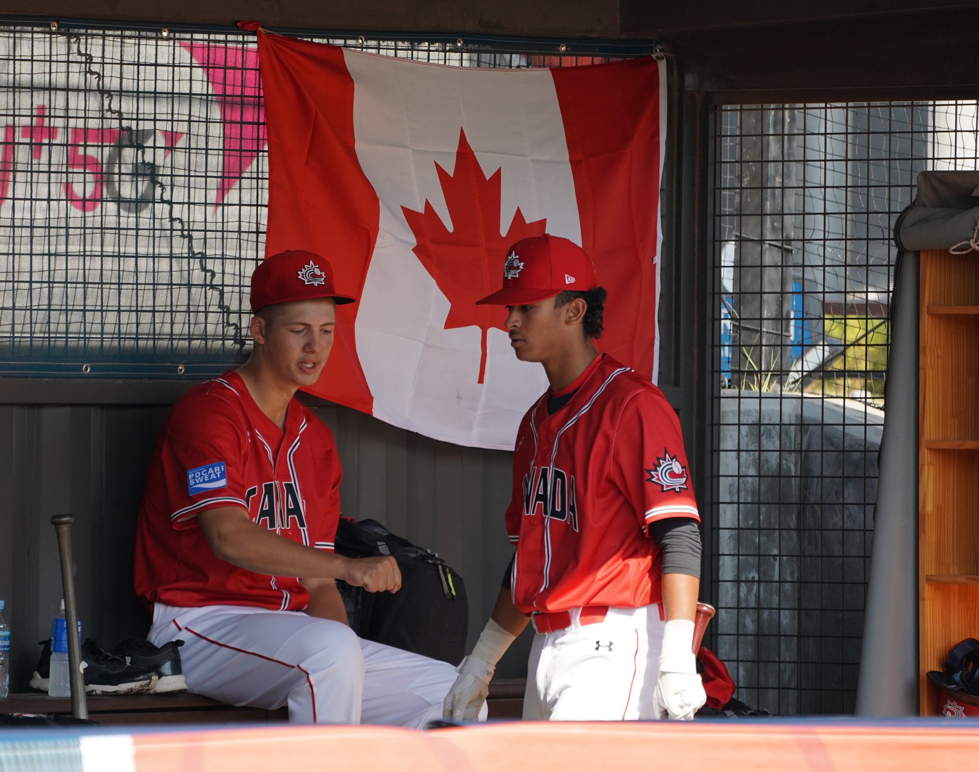 Canada's starting pitcher Mitchell Bratt during pre game