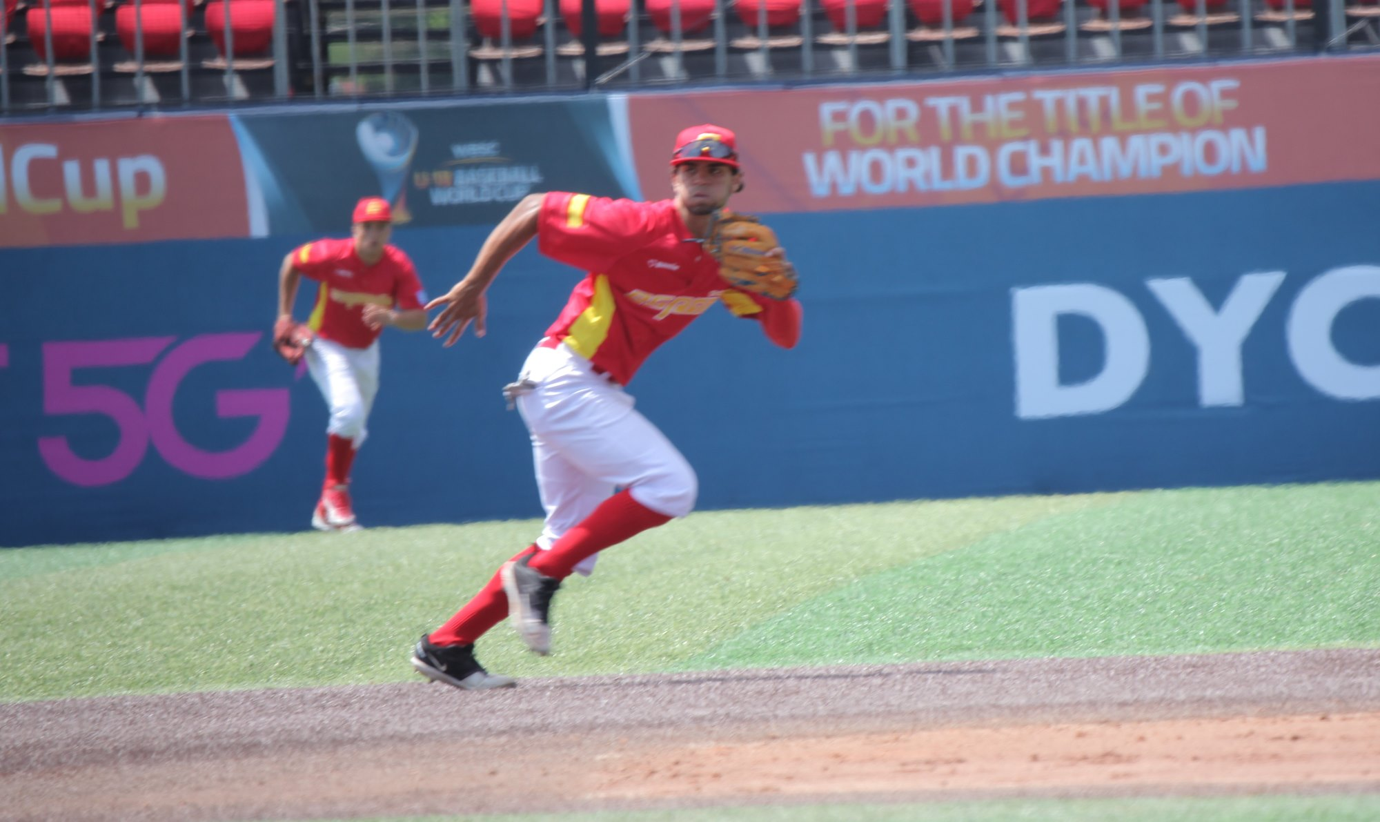 Spain took a 2-0 lead into the eighth inning
