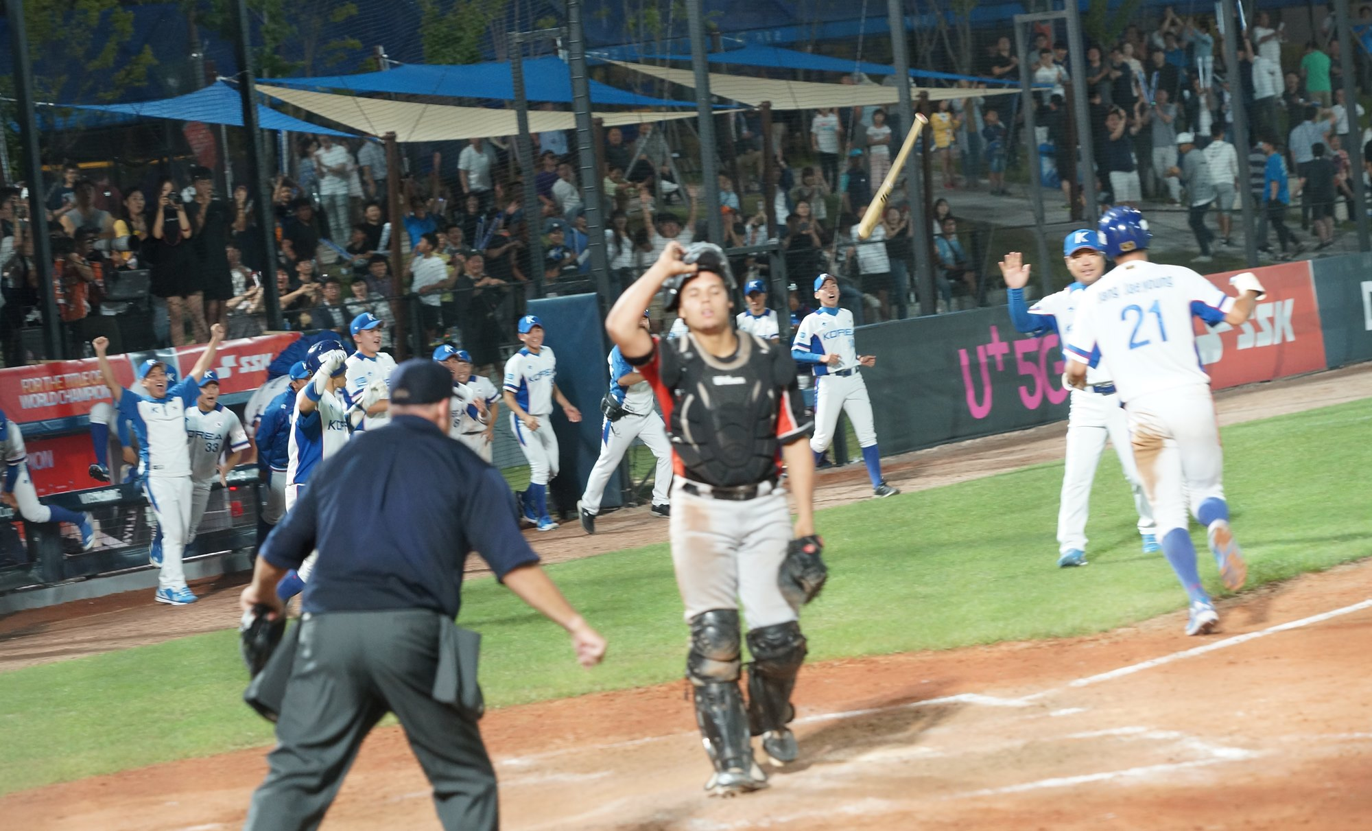Korea had to wait until the tenth inning to win