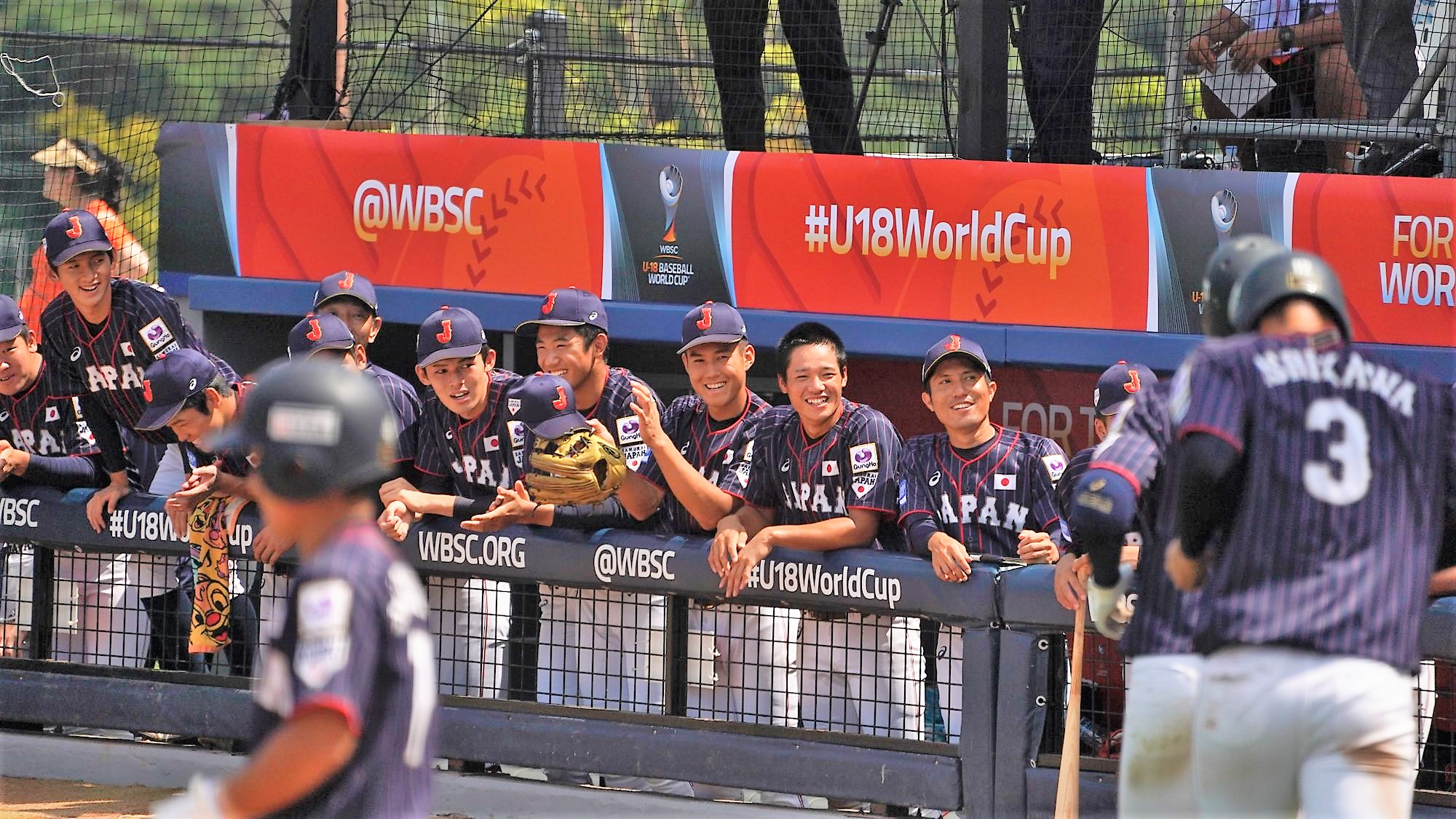 It was a day full of smiles for Japan