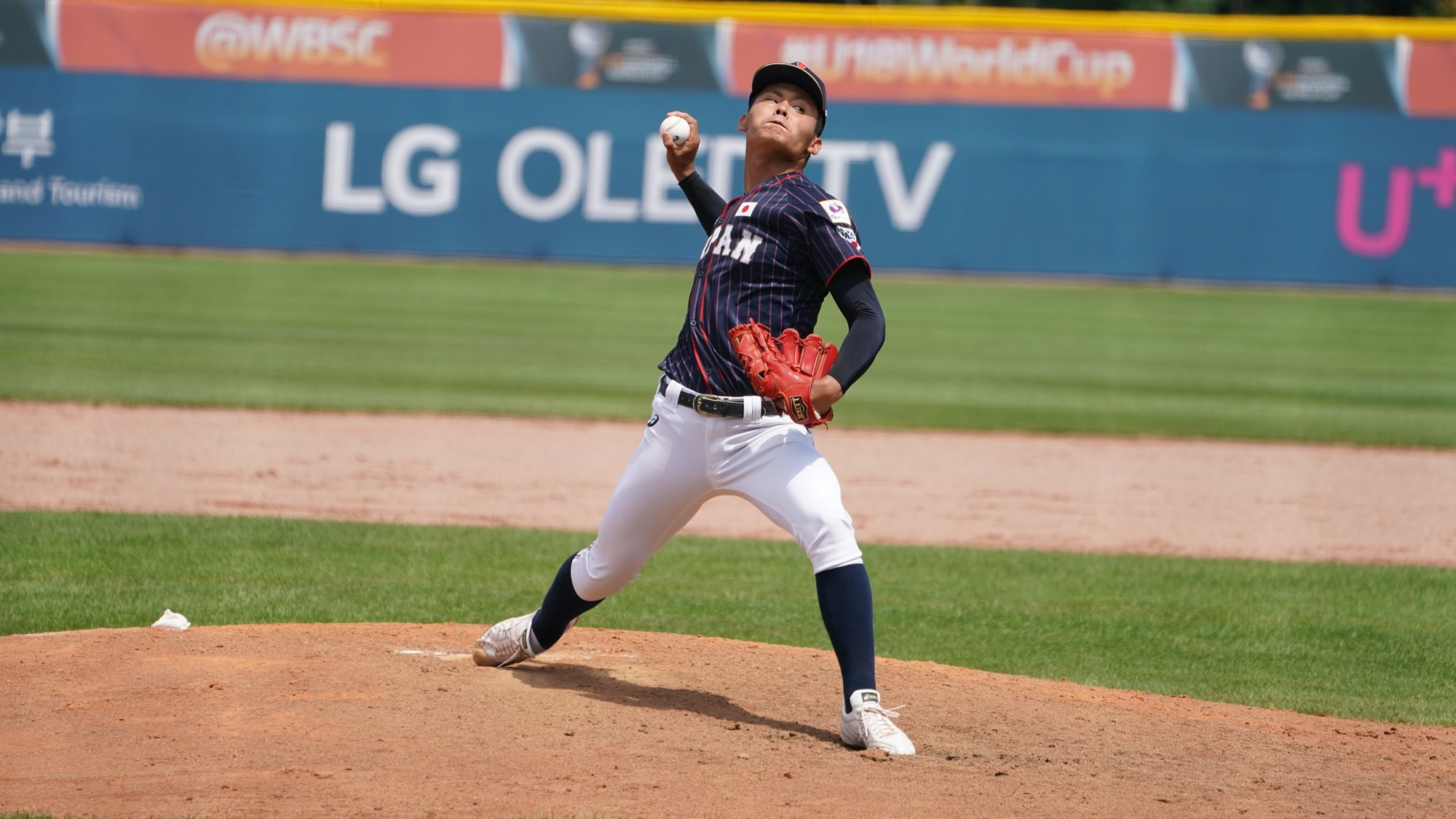 Sota Asada pitched five innings of no-hit ball