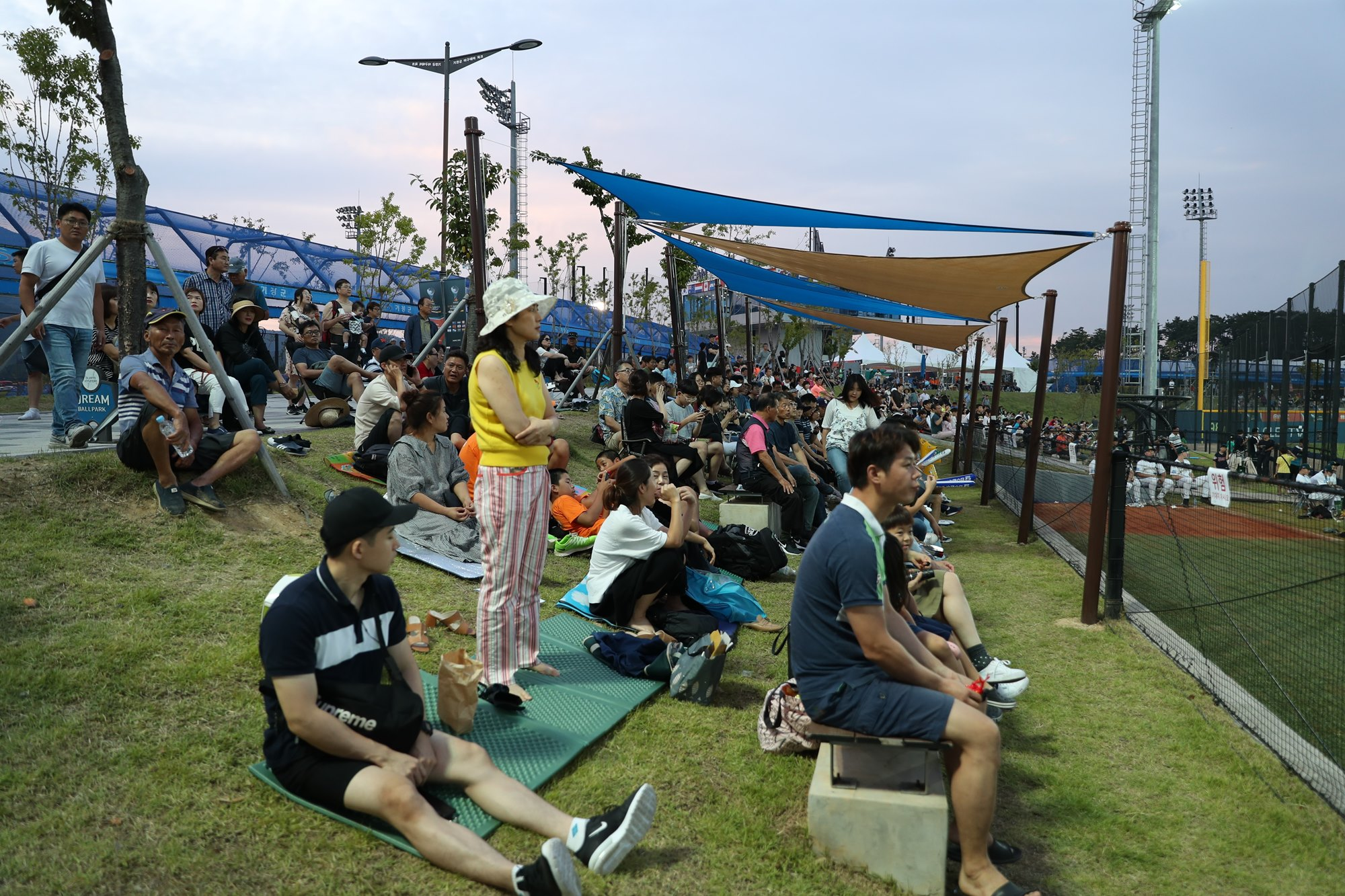 Korean fans at the Dream Ballpark