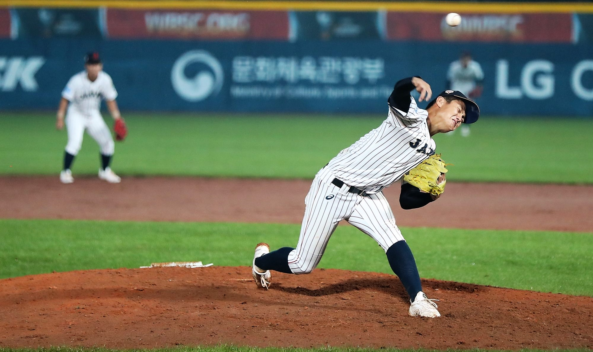 Japan's hard throwing righthander Junya Nishi