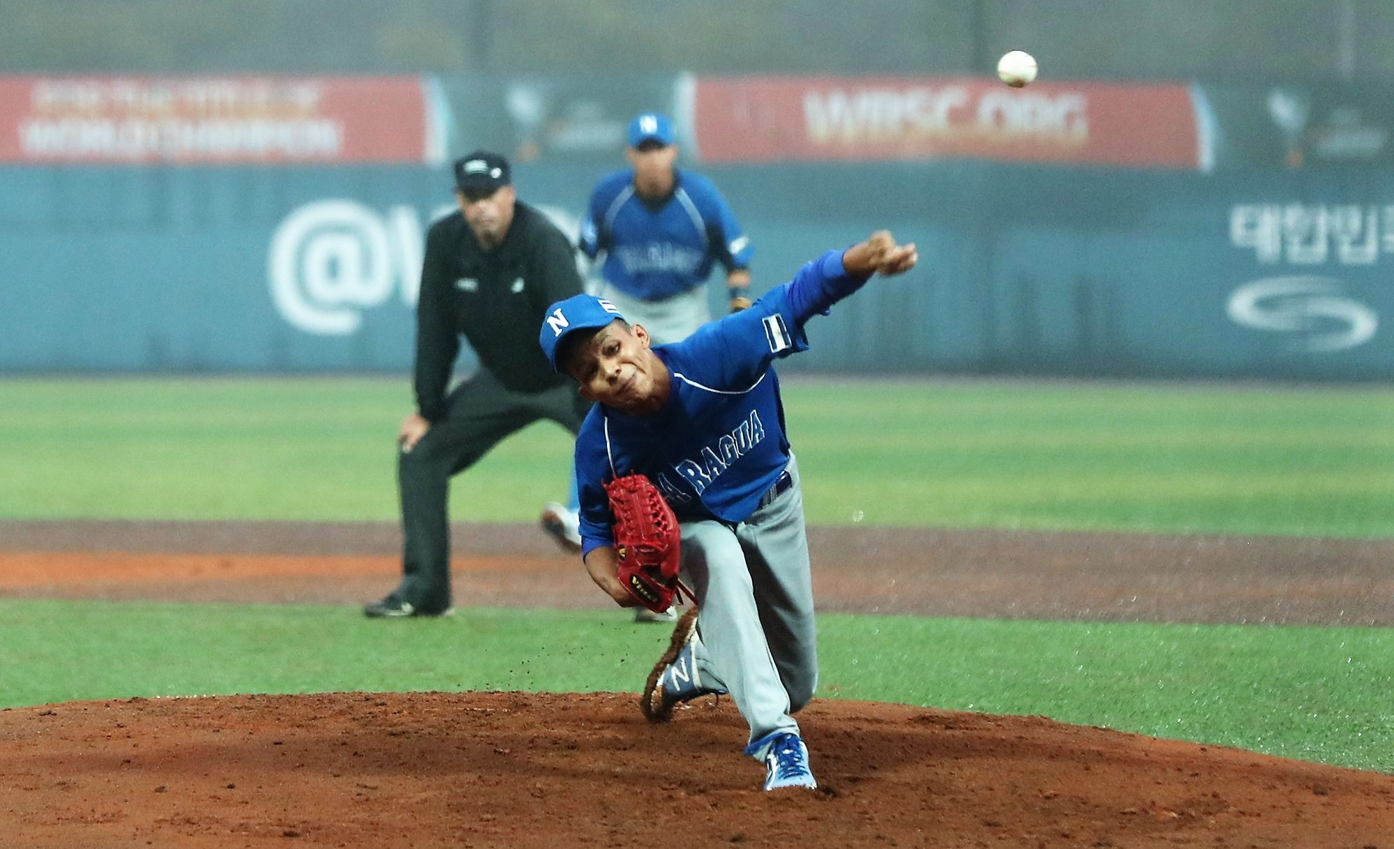 Yovani Canales kept Korea scoreless for two innings, then was plagued by defensive errors