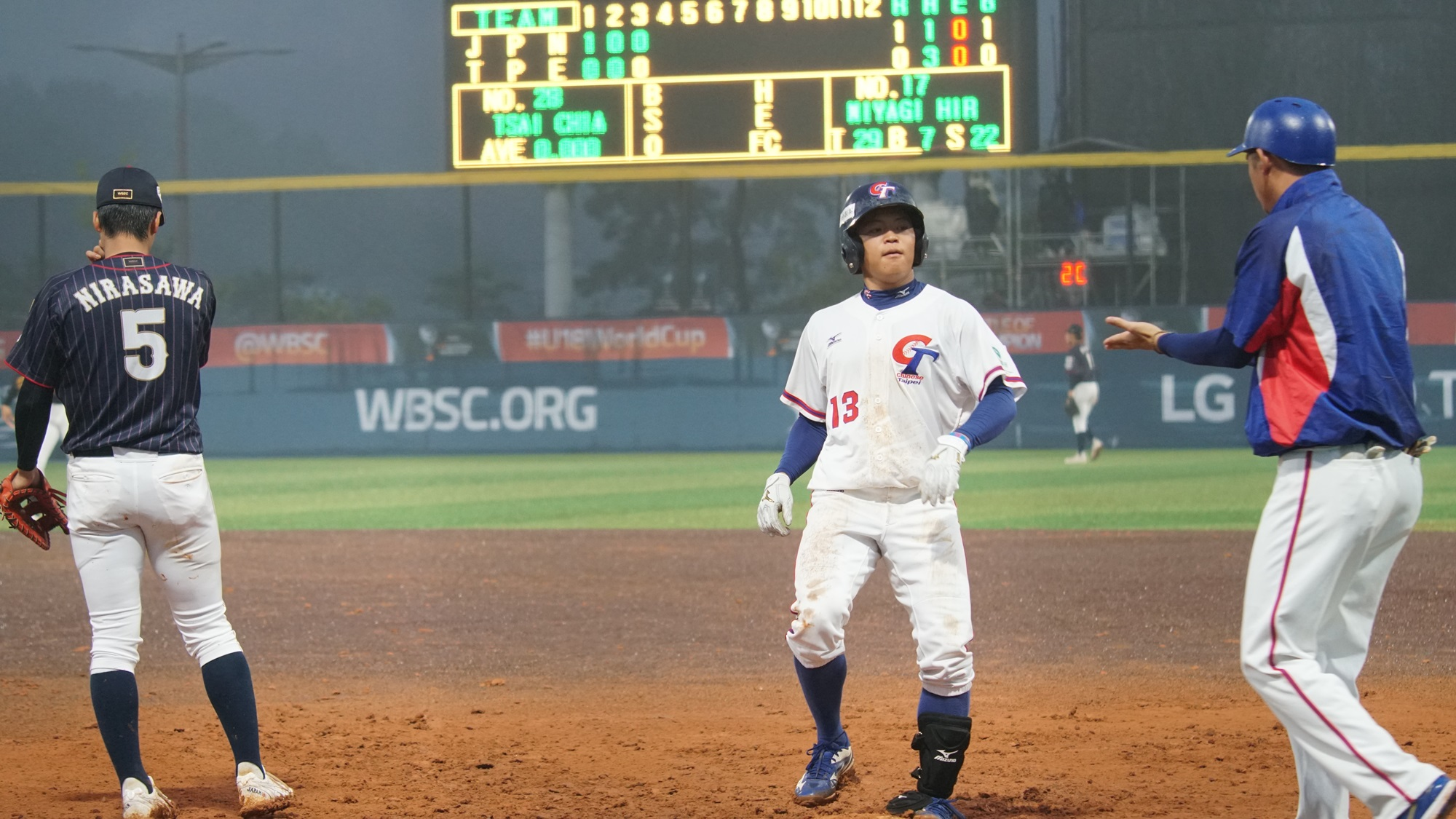 Chinese Taipei tied the game