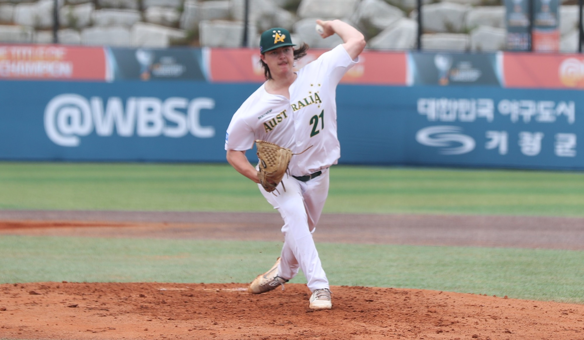 Liam Evans pitched seven strong innings, but made one mistake