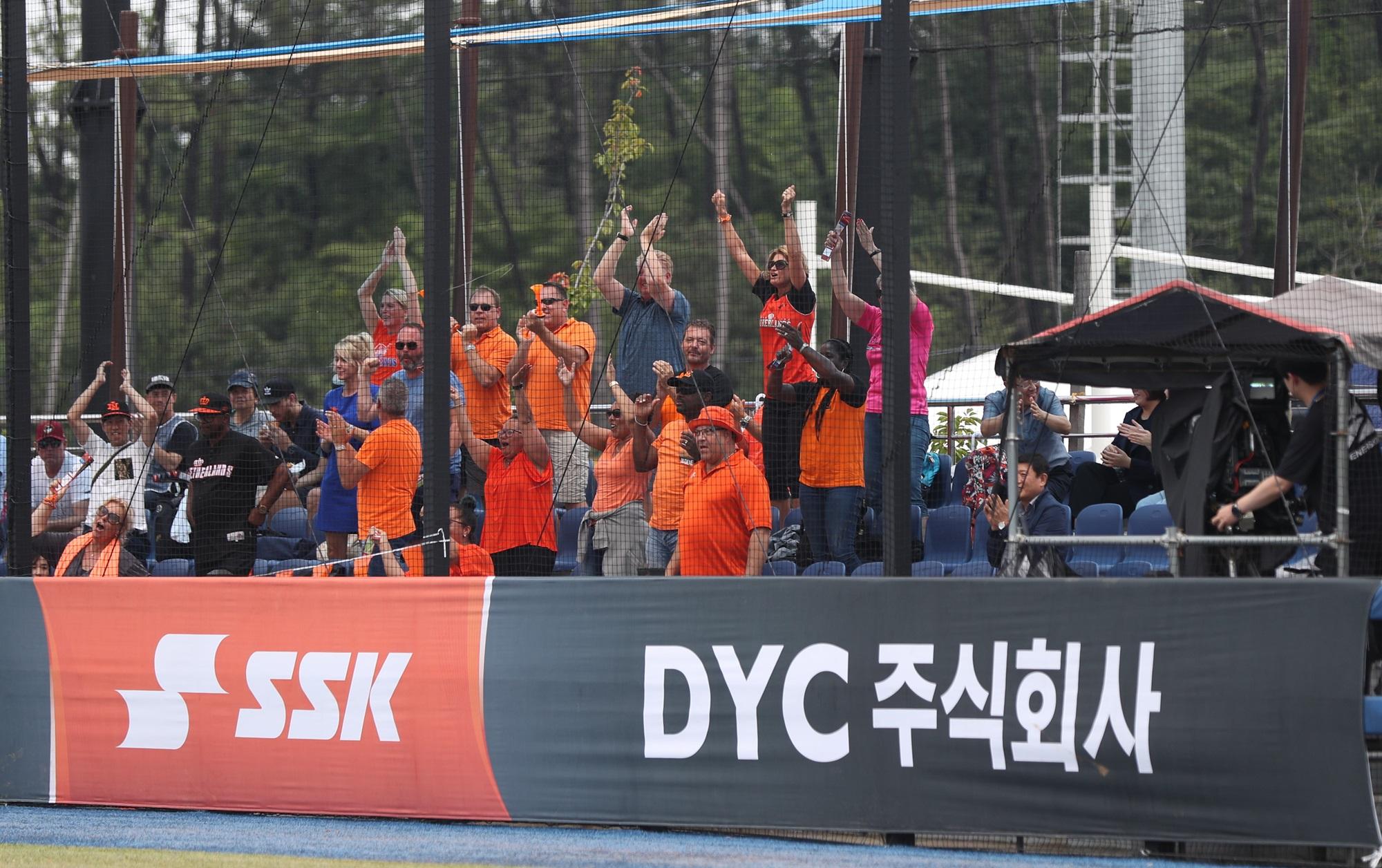 Dutch fans celebrate