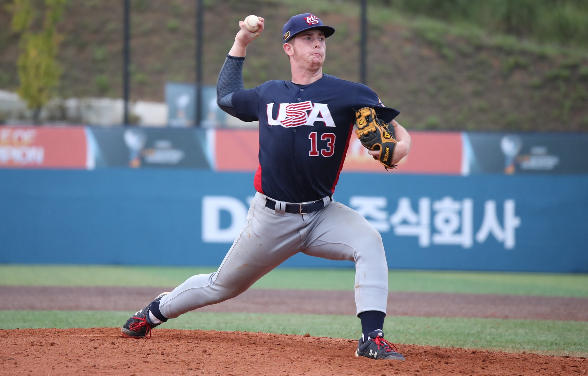 Nolan Mc Lean took the mound and gave the USA two scoreless innings