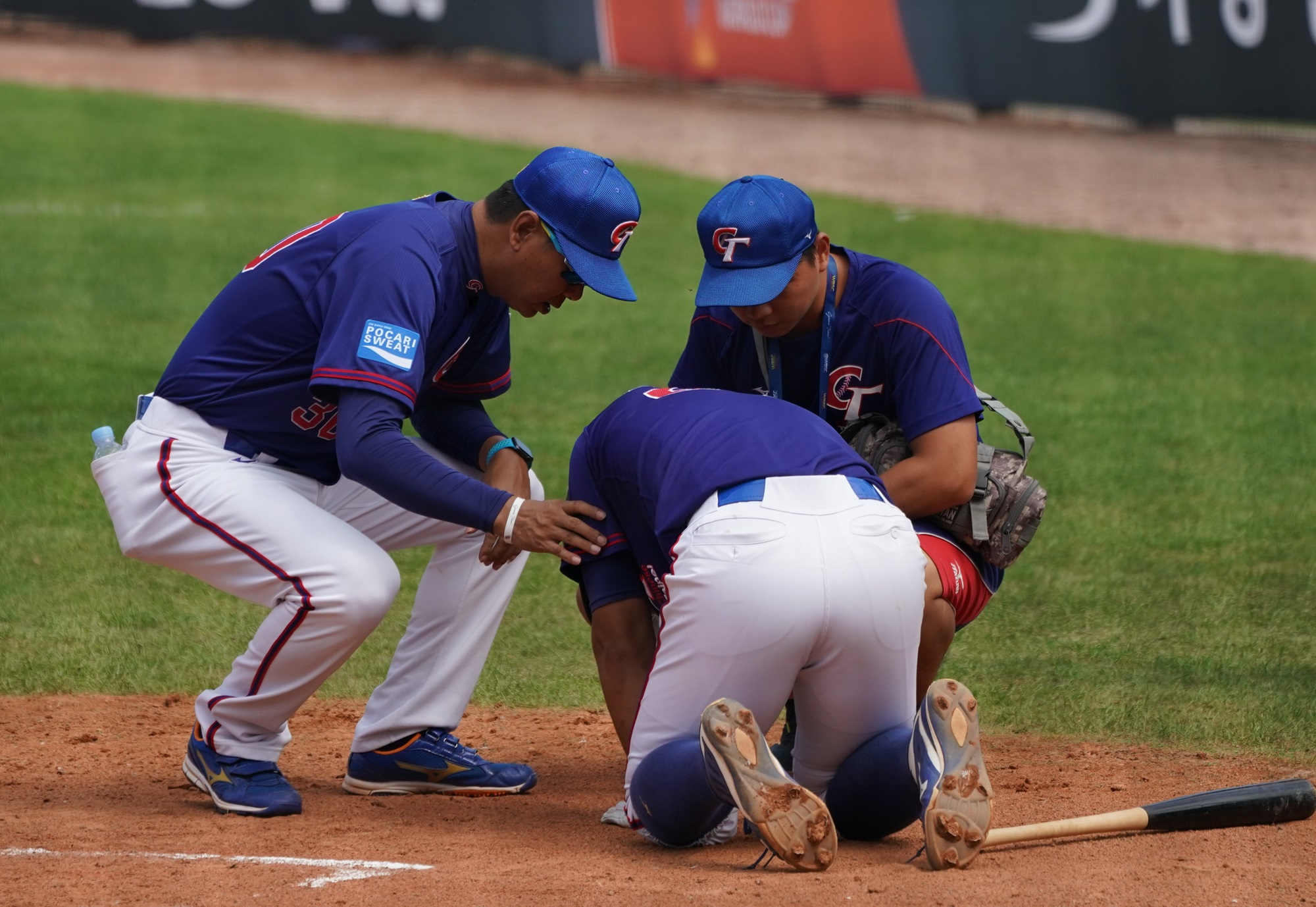 There are dangerous moments on a baseball field